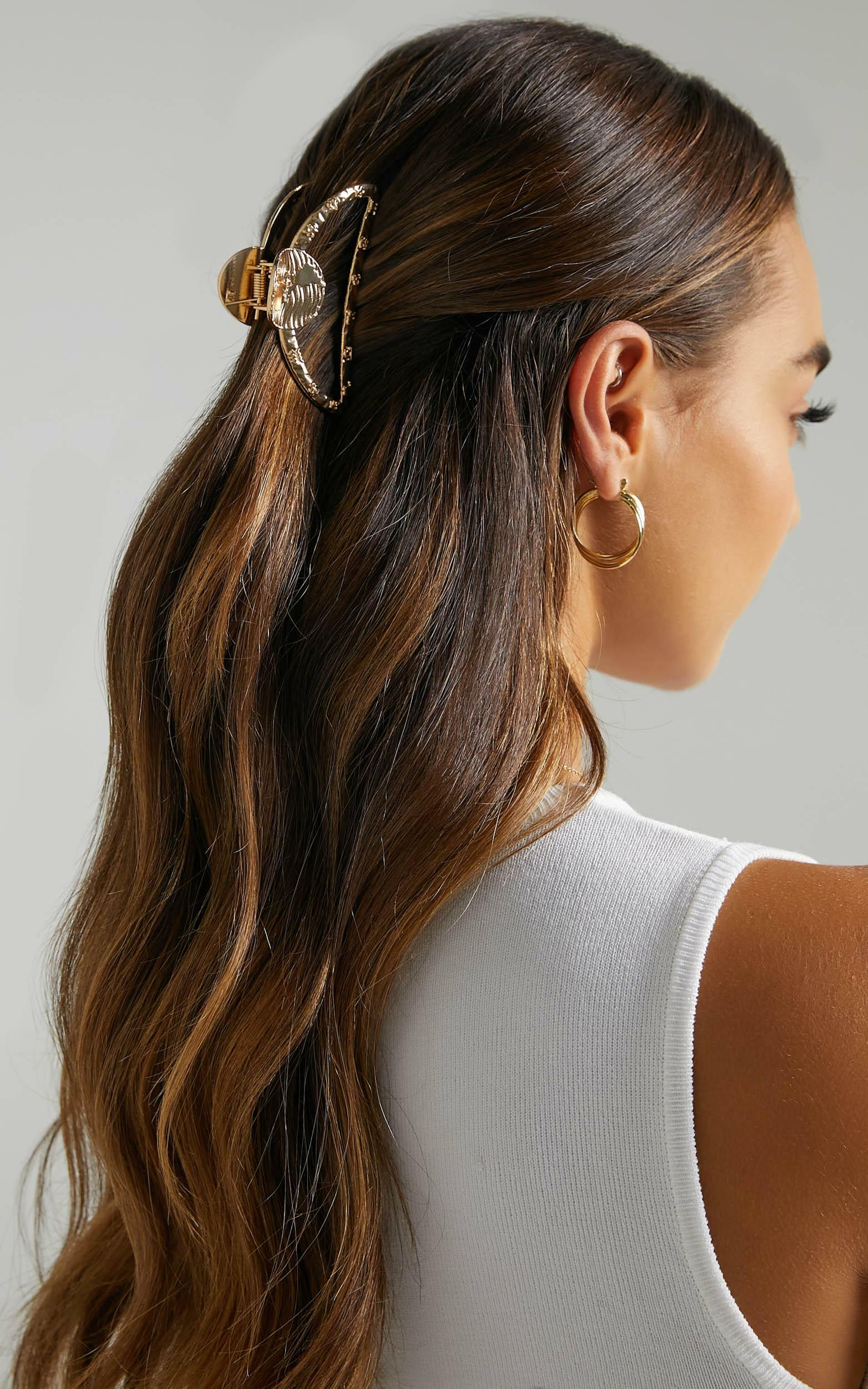 Summer Day Hair Clip in Shiny Gold, , hi-res image number null
