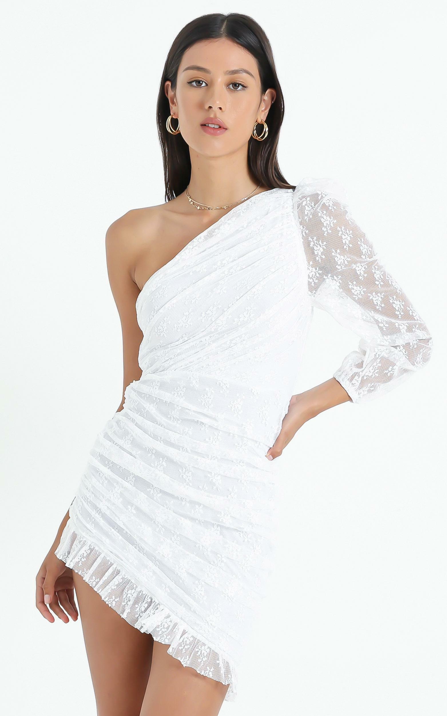 Its A Game Dress in  White Lace - 6 (XS), White, hi-res image number null