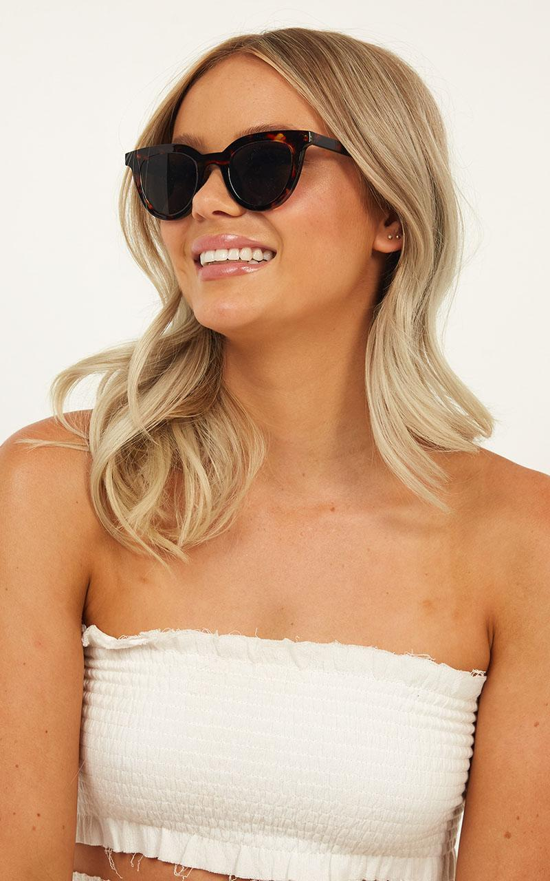 MinkPink - Savvy Sunglasses In Apricot Tort, Black, hi-res image number null