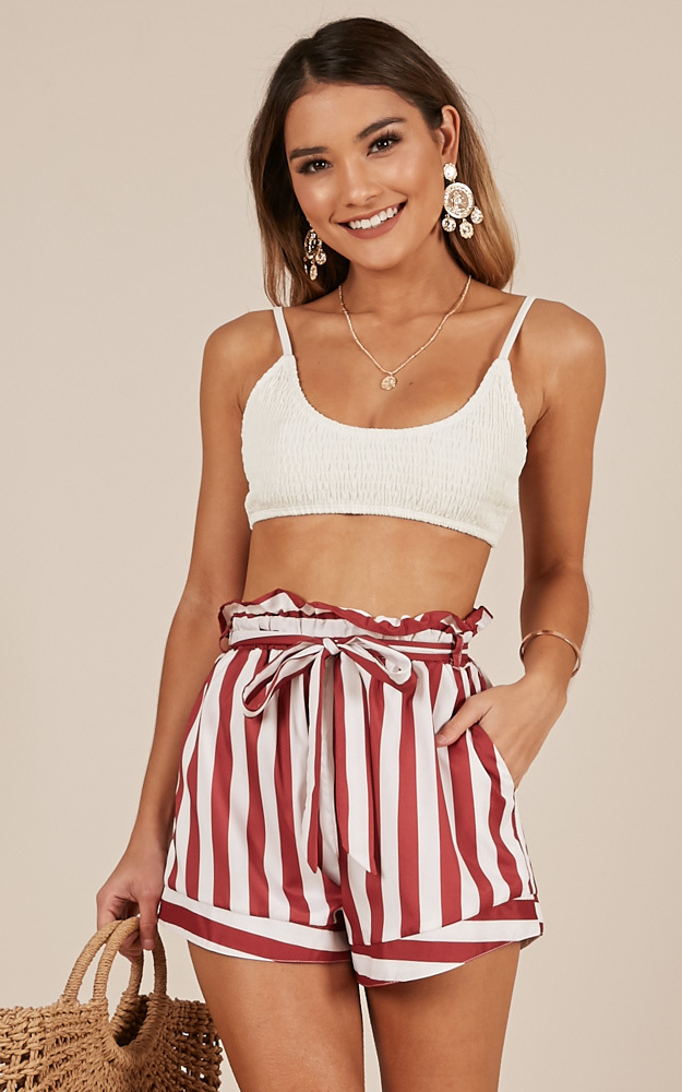 Summer Tide Shorts in chilli stripe - 20 (XXXXL), Red, hi-res image number null