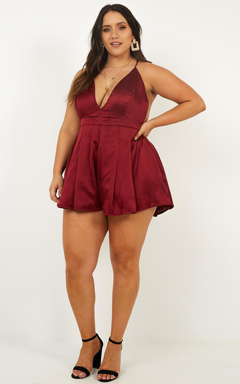 Never Be The Same Playsuit in wine - 18 (XXXL), Wine, hi-res image number null