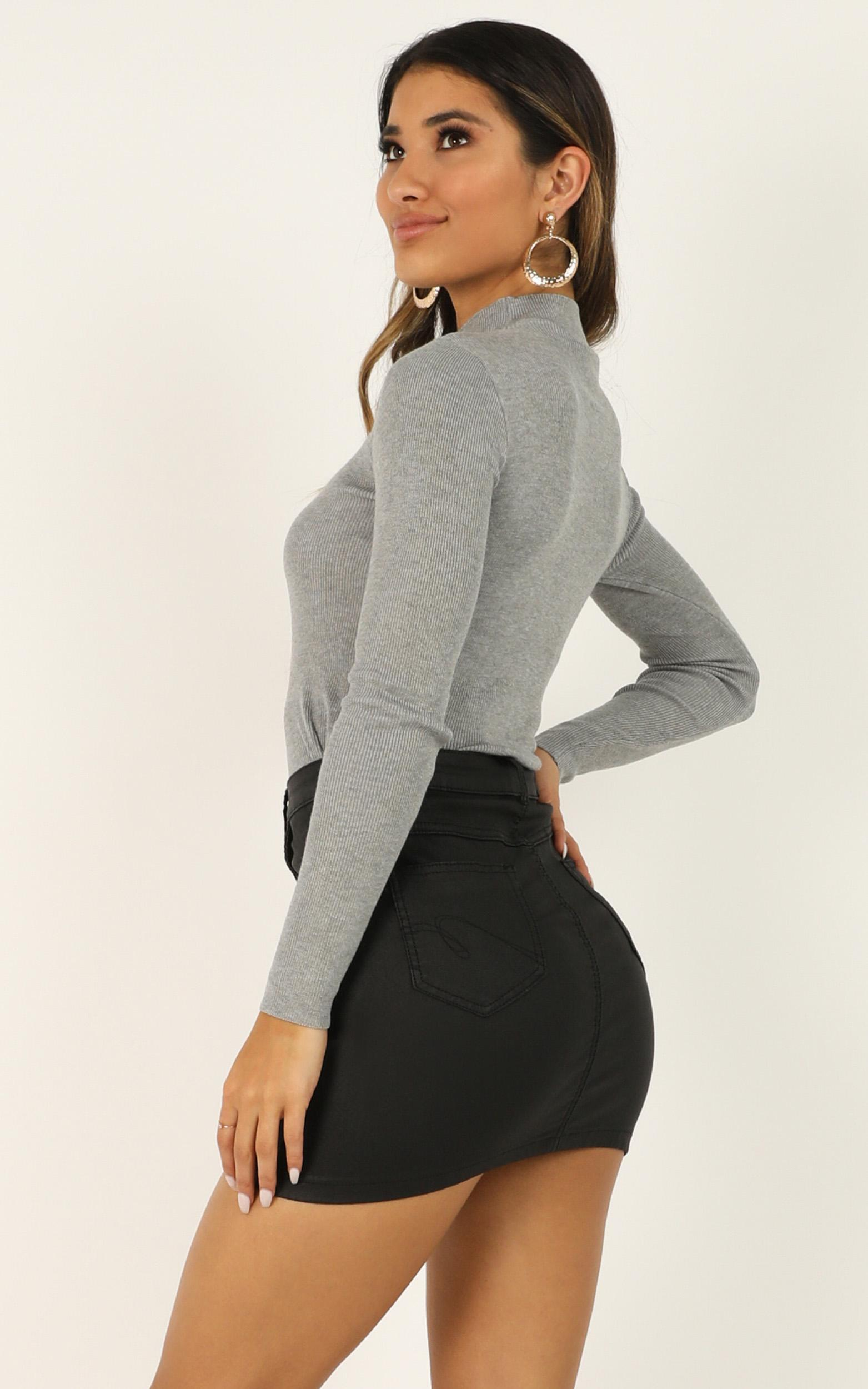 Lust for Life Knit Top in grey marle - 20 (XXXXL), Grey, hi-res image number null