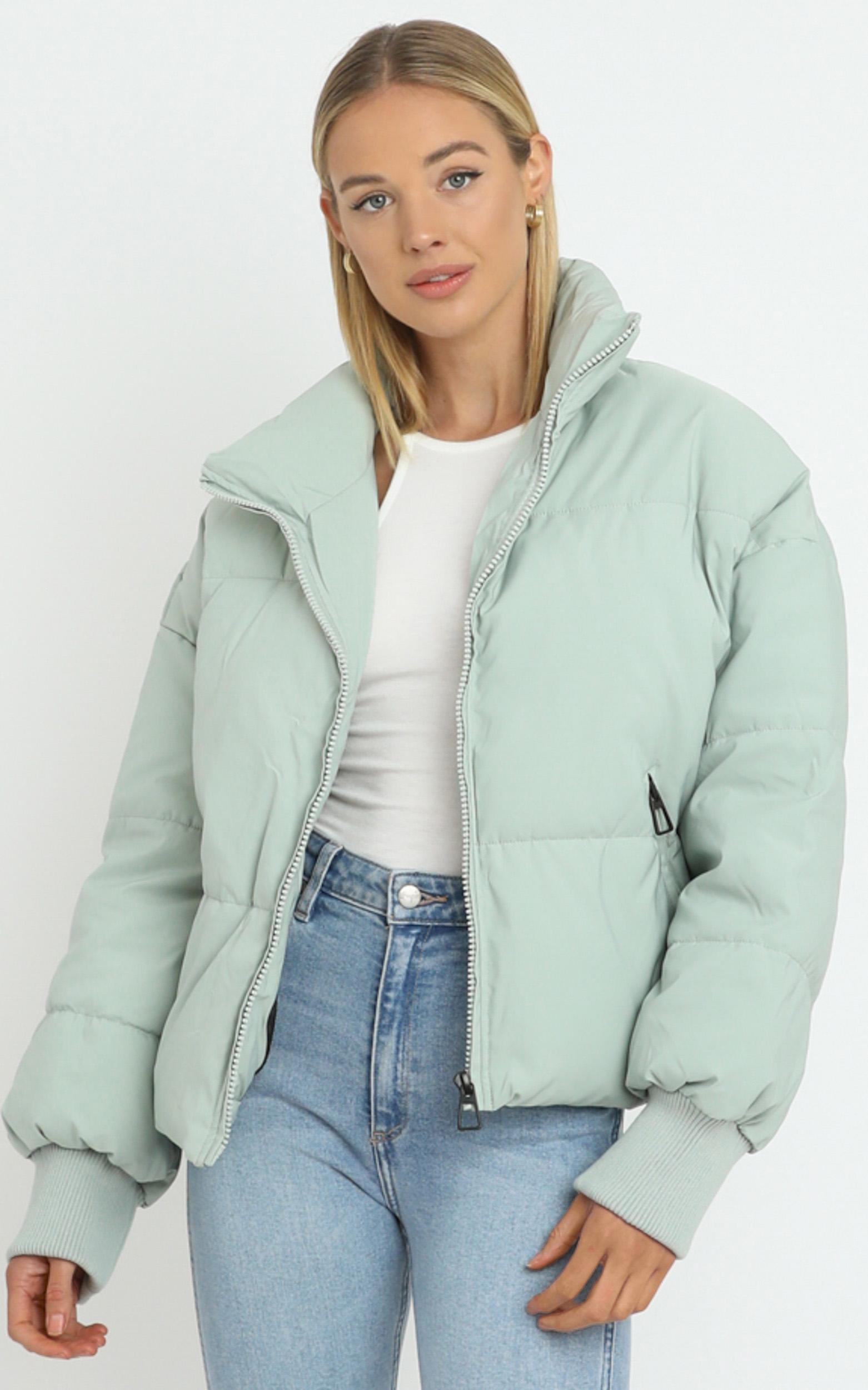 Windsor Puffer Jacket in Khaki - 06, GRN3, hi-res image number null