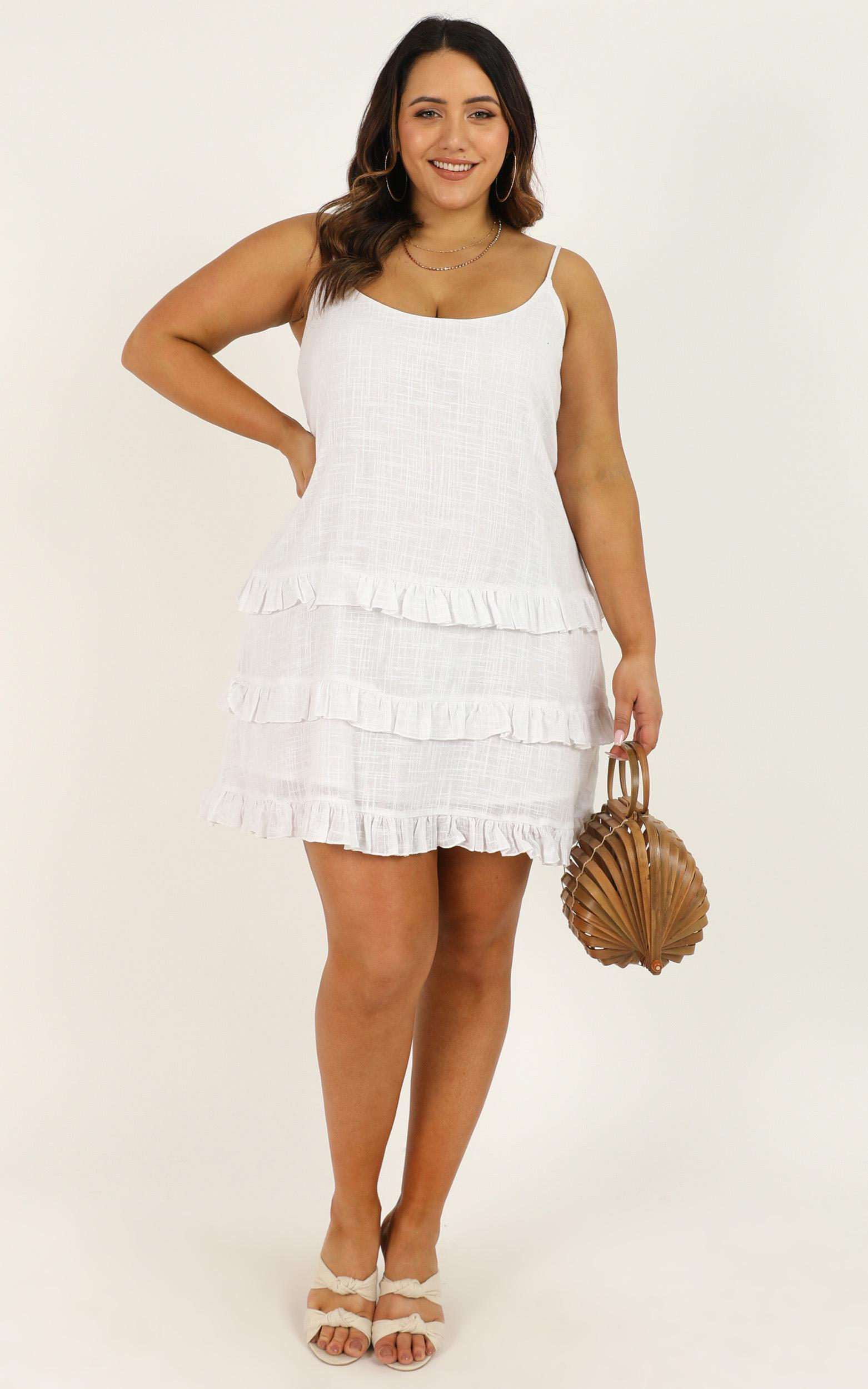 Long reflections Dress in white - 20 (XXXXL), White, hi-res image number null