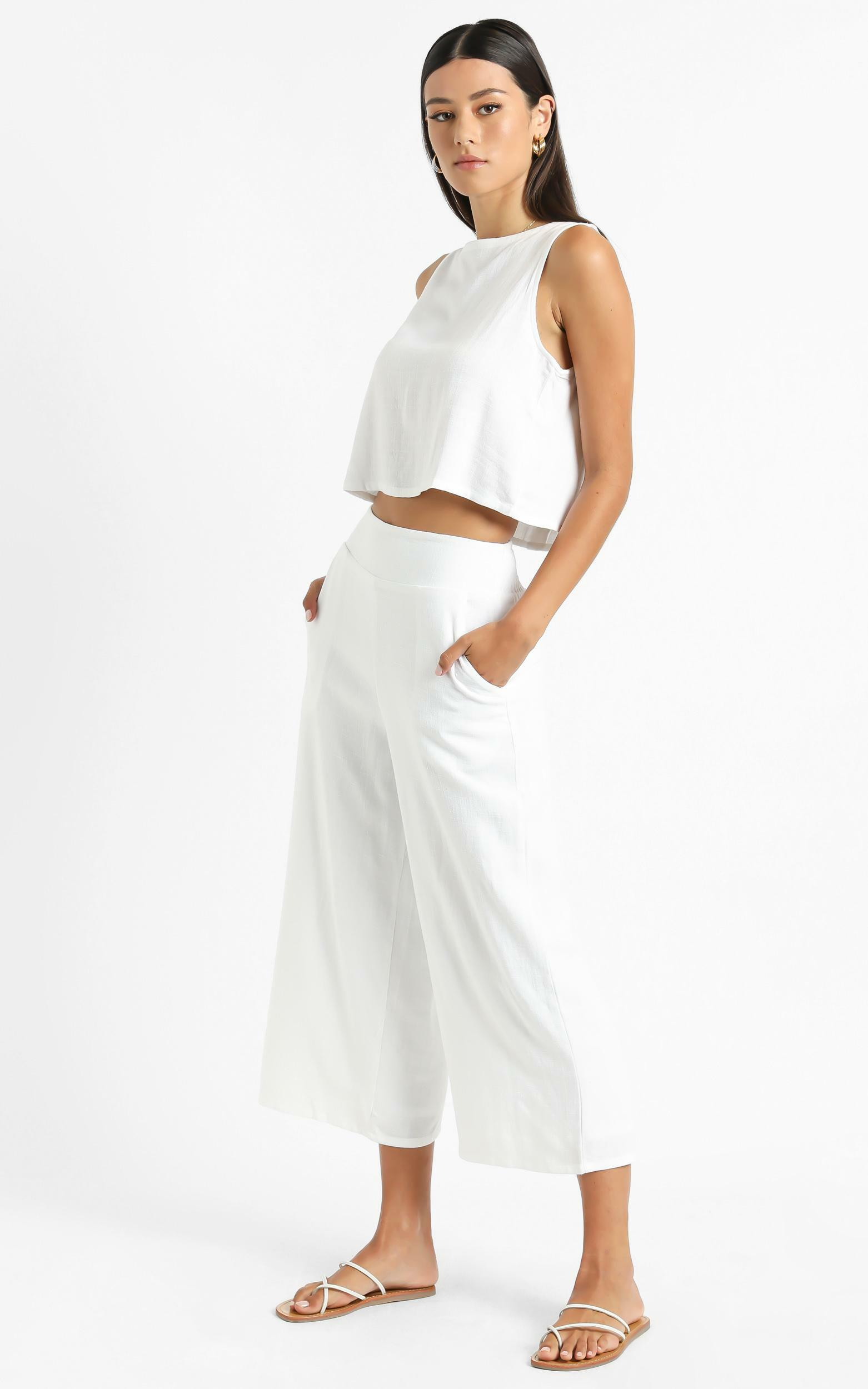 Eyes On Love Pants in White - 6 (XS), White, hi-res image number null