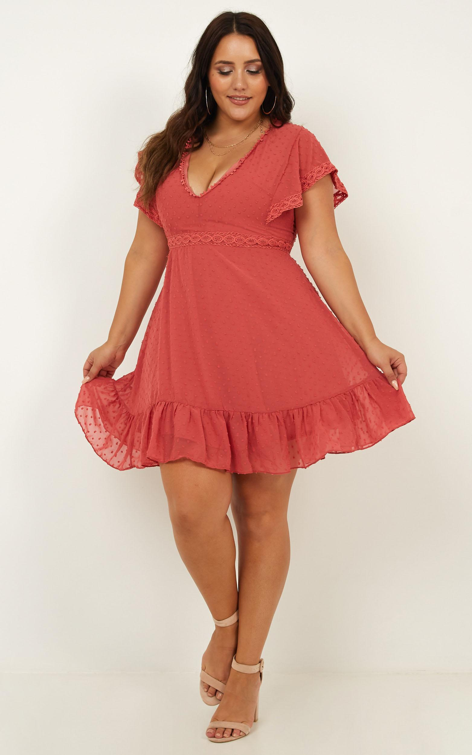 Once upon a daydream dress in dusty rose - 20 (XXXXL), Pink, hi-res image number null