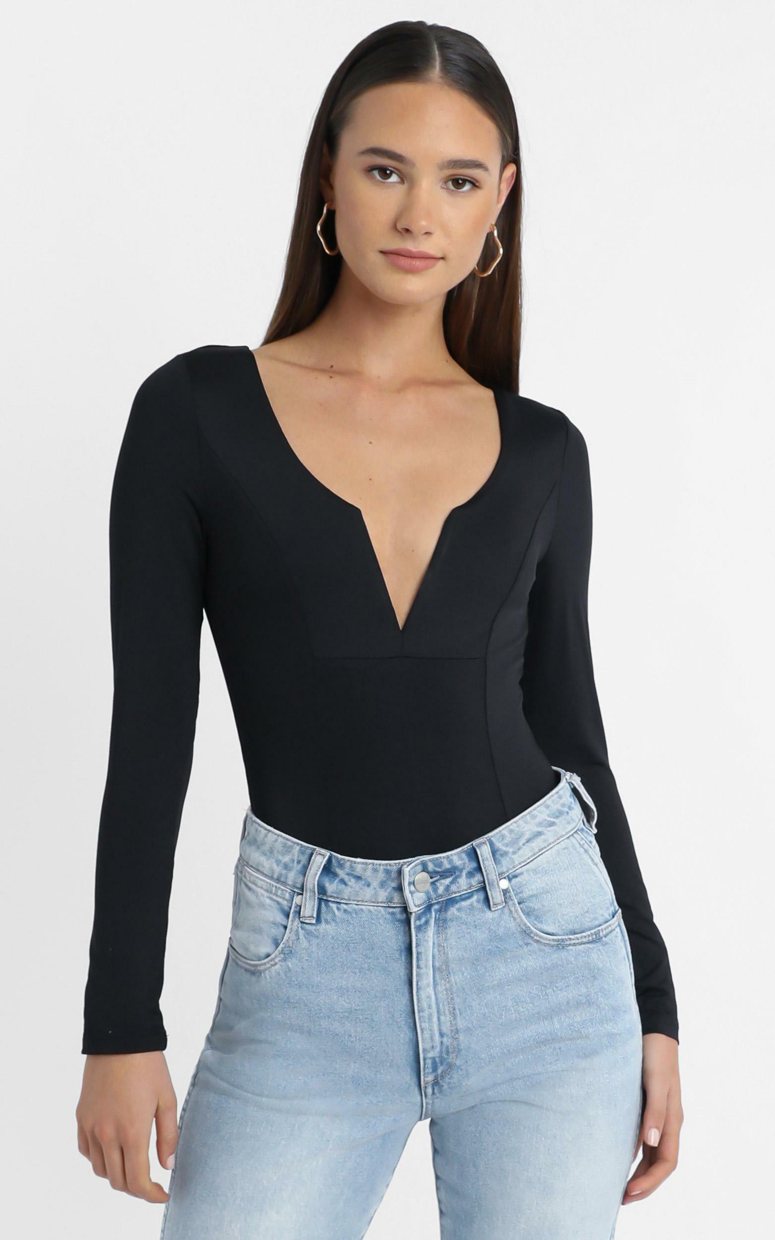 Livy Bodysuit in Black - 14 (XL), Black, hi-res image number null