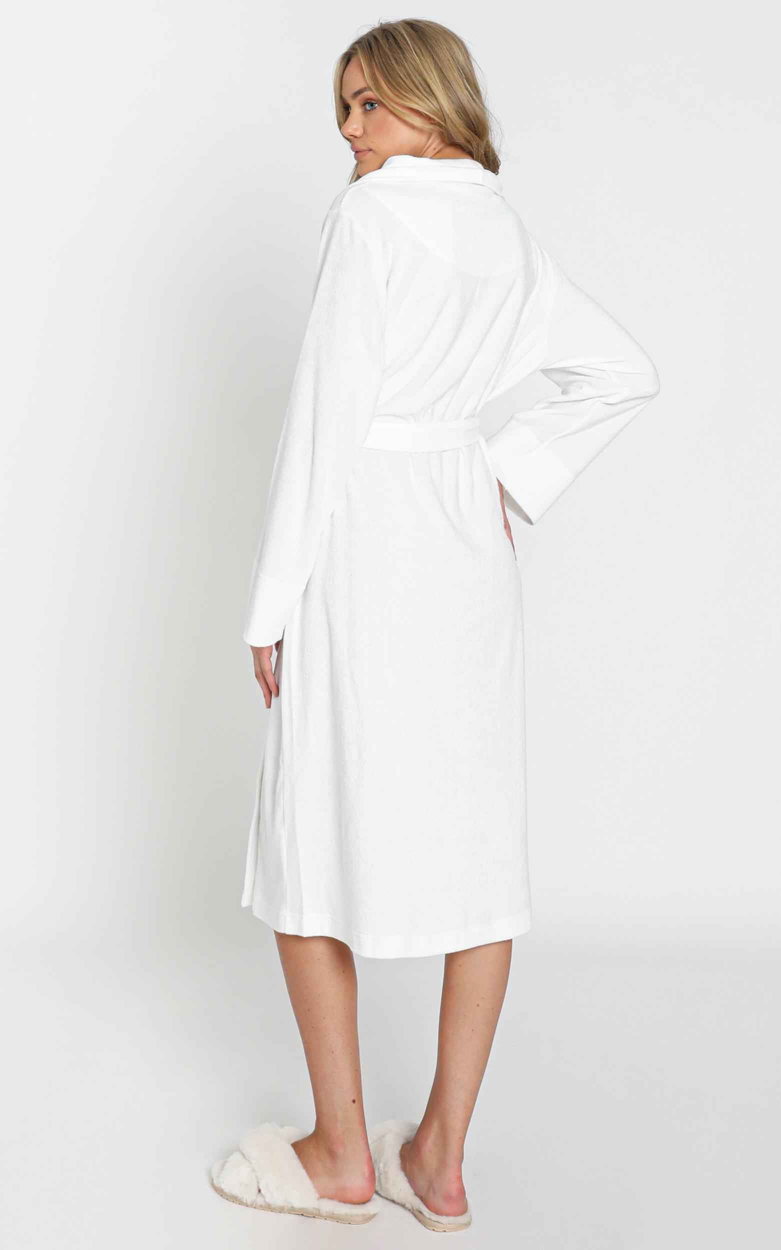 Project REM Terry Towelling Robe in White - 6 (XS), White, hi-res image number null