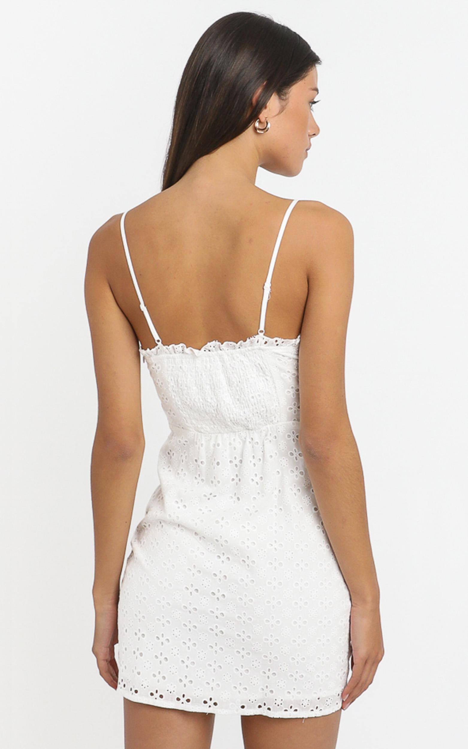 Khloe Dress in White - 6 (XS), White, hi-res image number null
