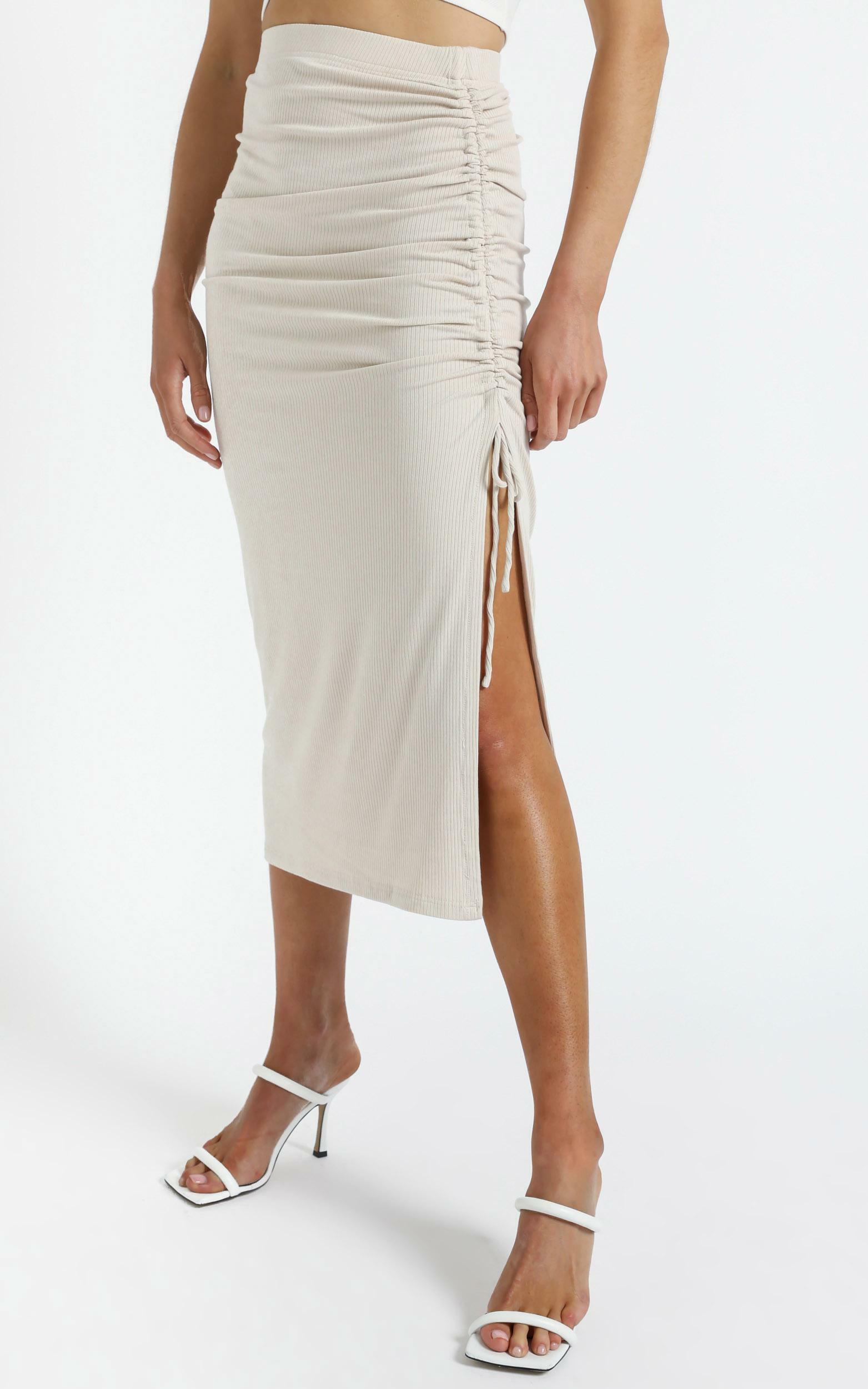 Bradford Skirt in Beige - 14 (XL), Beige, hi-res image number null