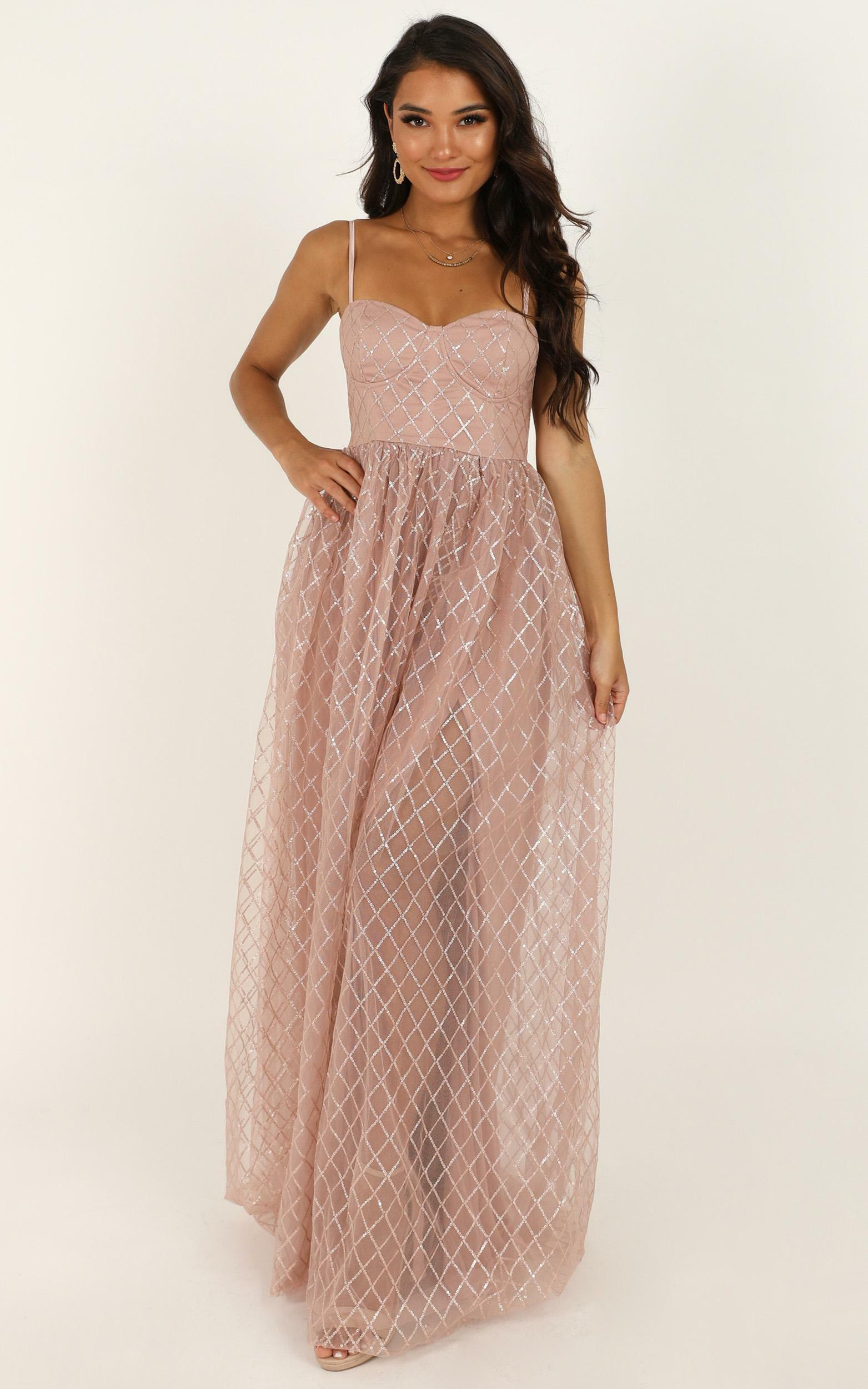 Sparkle With Love Dress in blush glitter - 18 (XXXL), Rose Gold, hi-res image number null