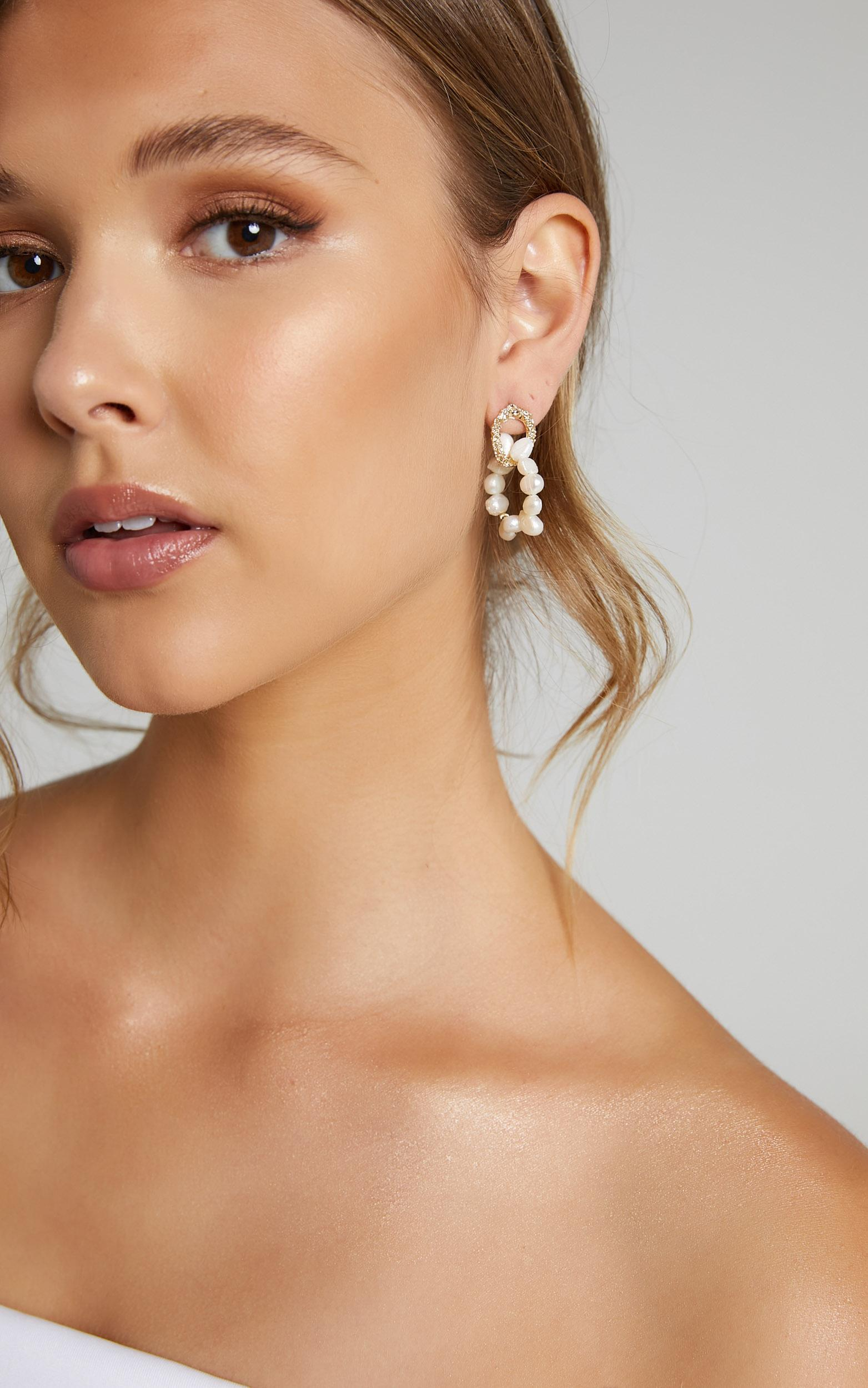 More Than Words Earrings in Pearl, , hi-res image number null