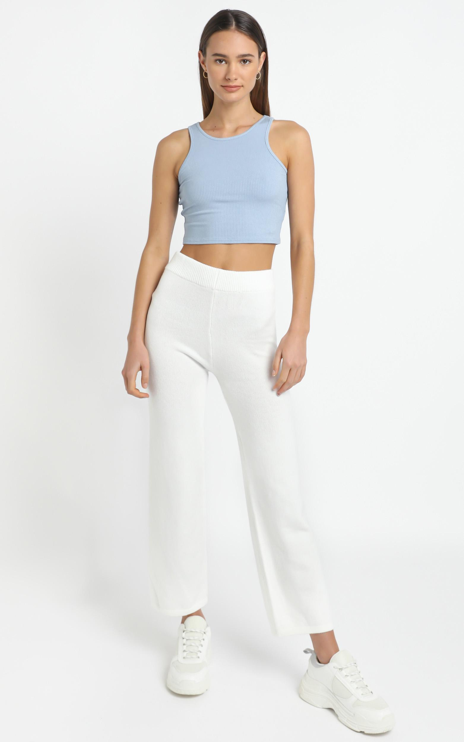 Caterina Knit Pants in White - 12 (L), White, hi-res image number null