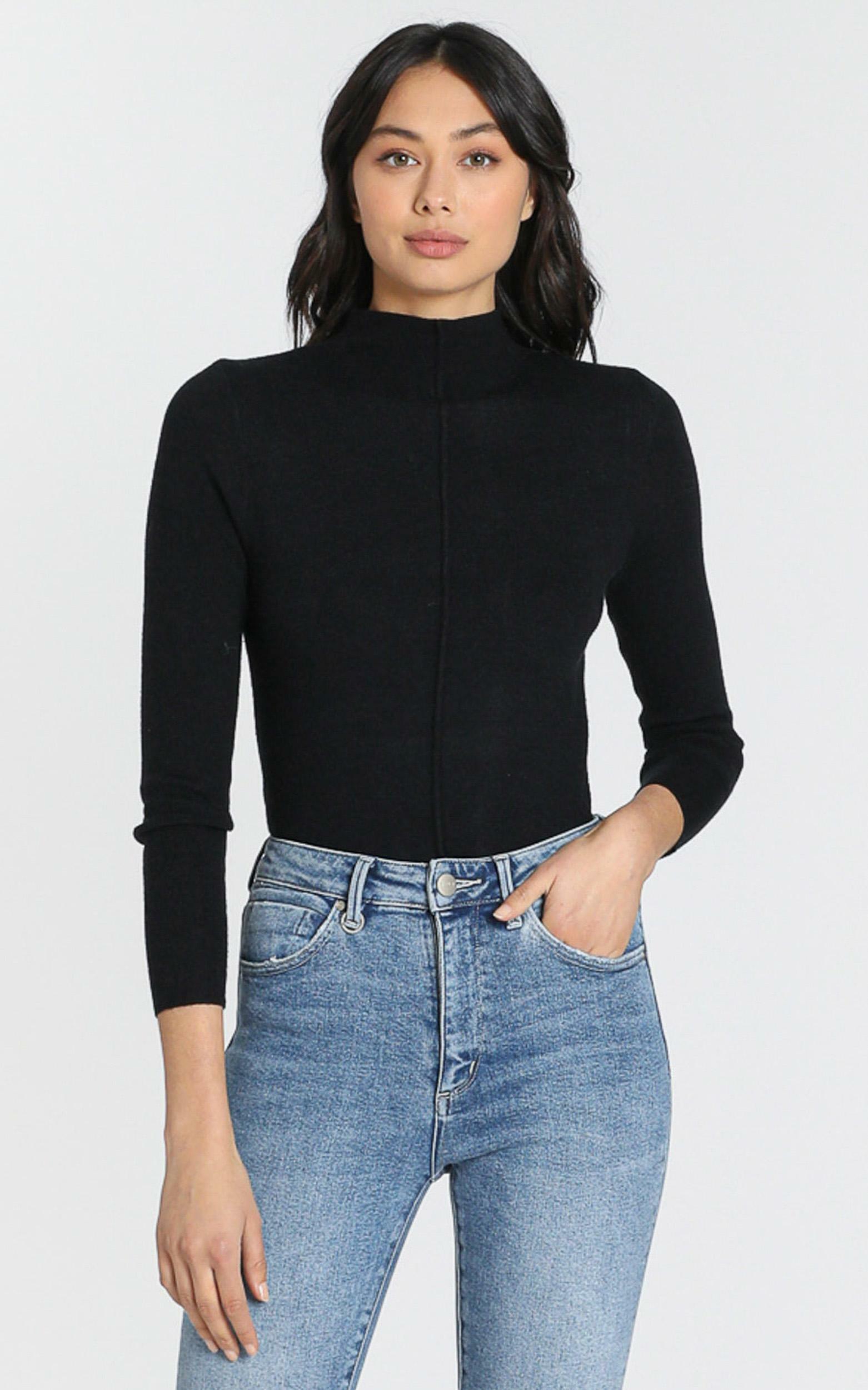 Camden Knit Top in black - S/M, Black, hi-res image number null