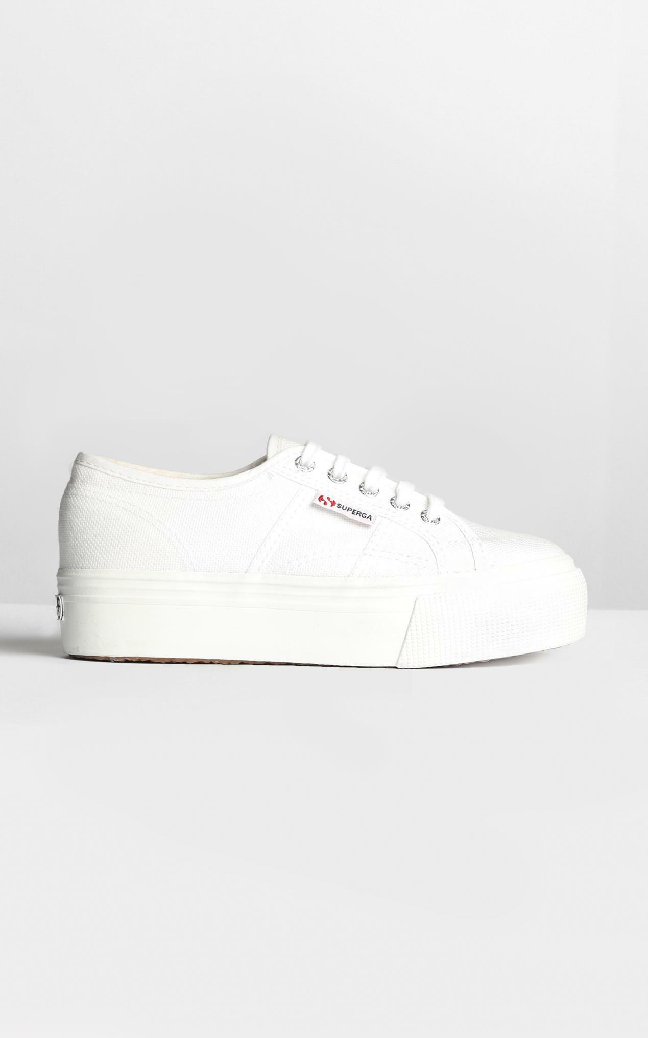 Superga - 2790 ACOTW Linea Up And Down Platform Sneakers in white canvas - 9, White, hi-res image number null