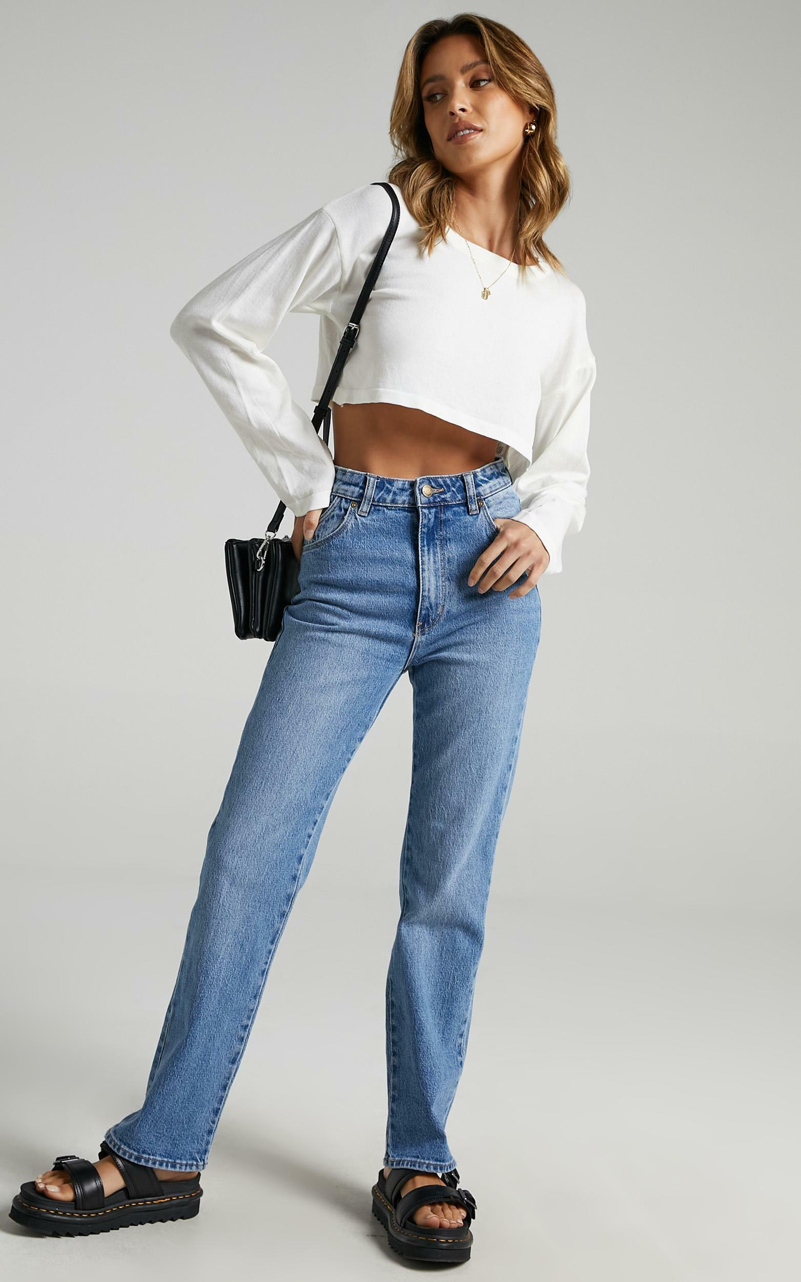 Rollas - Original Straight Jean in Brad Blue - 10, BLU1, hi-res image number null