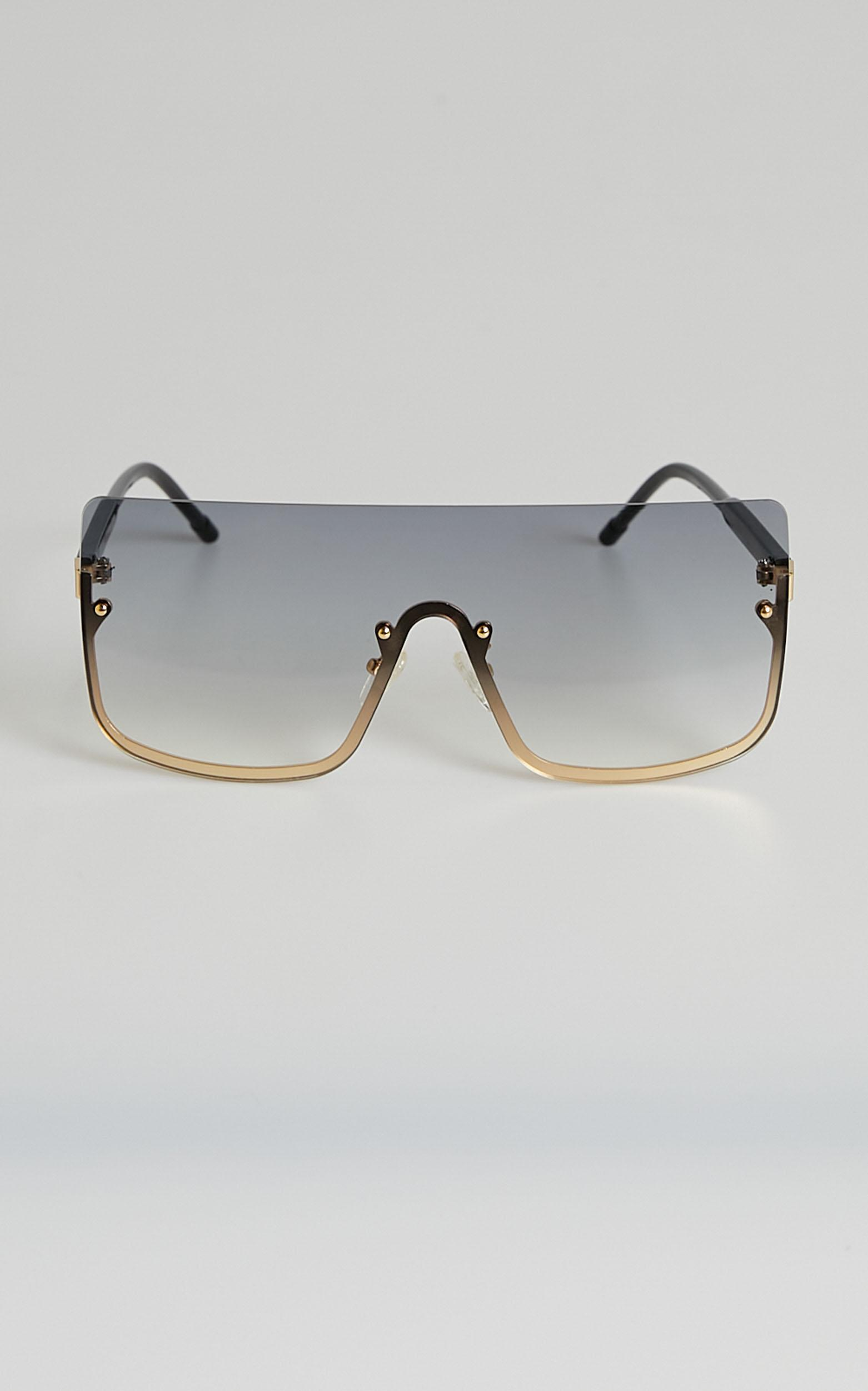 North Side sunglasses in black and gold, , hi-res image number null