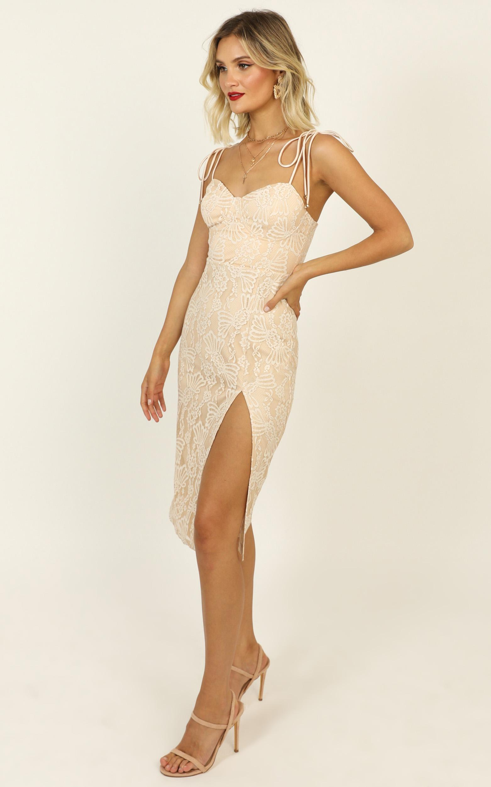 Youve Got The Power Dress in nude lace - 20 (XXXXL), Beige, hi-res image number null