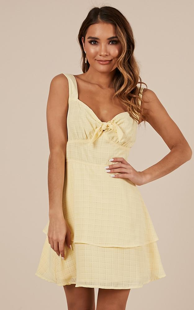 Over Looking Dress in lemon - 20 (XXXXL), Yellow, hi-res image number null
