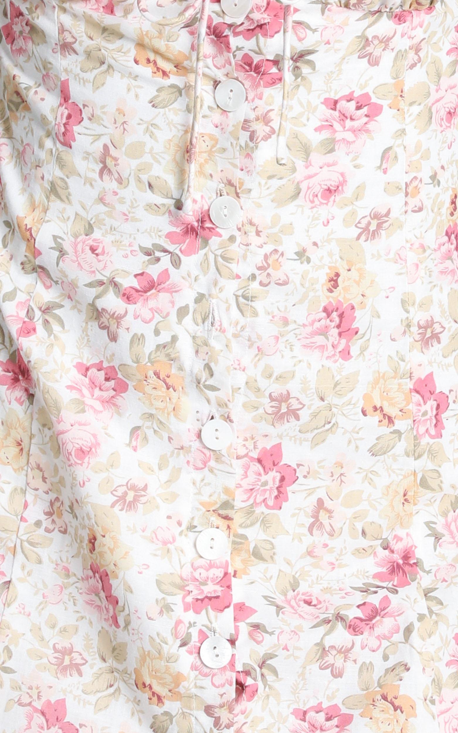 Nothing But Friends Dress in pink vintage floral - 12 (L), Pink, hi-res image number null