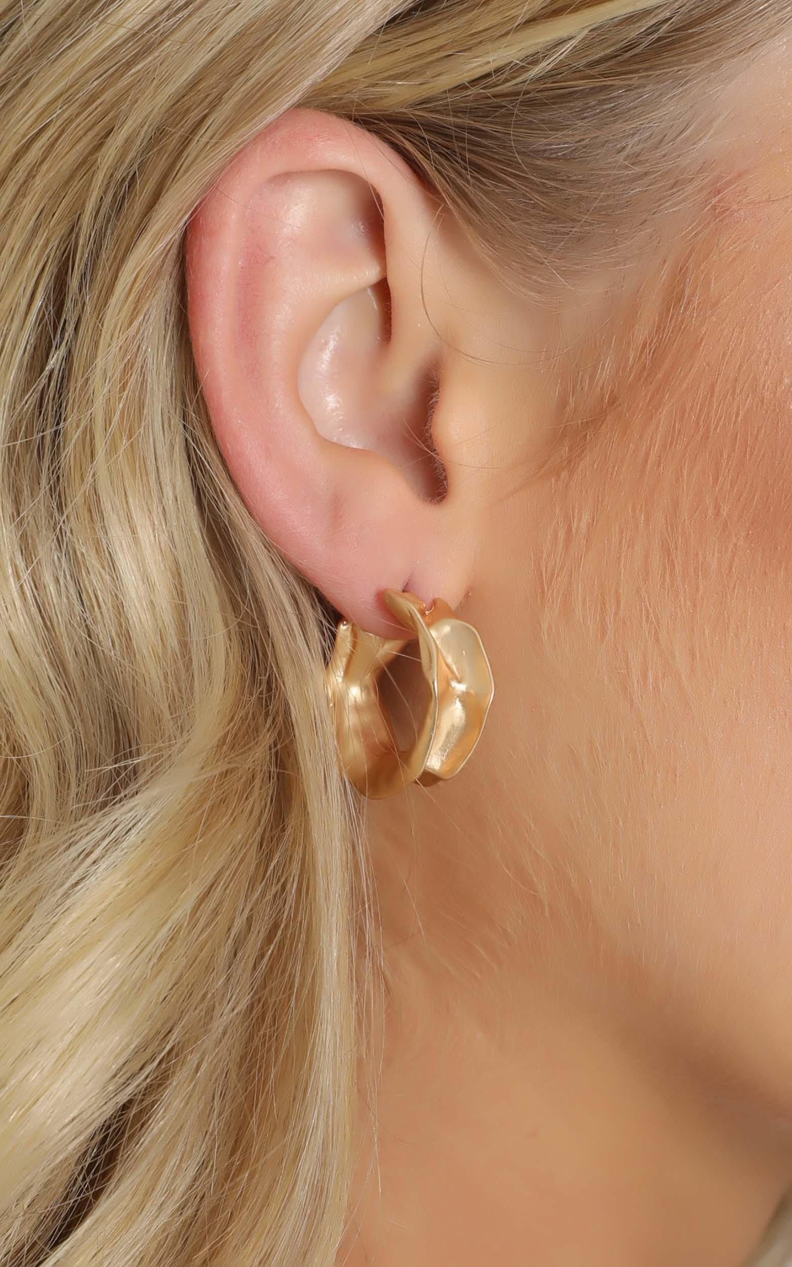 Latest Addition Hoop Earrings in Gold, , hi-res image number null