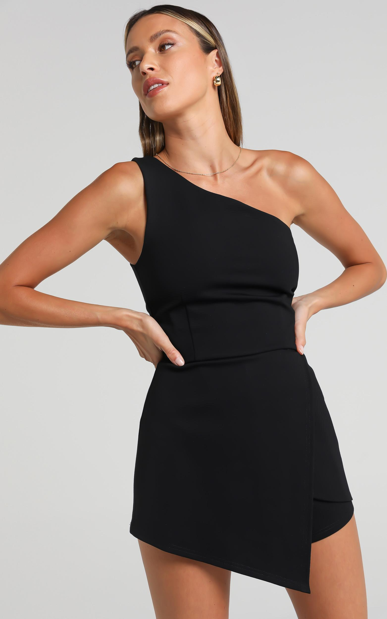 Stand another day playsuit in black - 20 (XXXXL), Black, hi-res image number null
