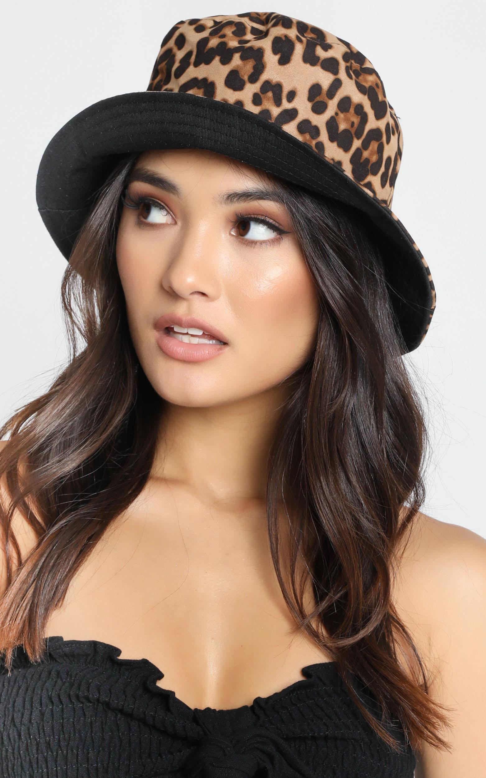 Fierce Obsession Bucket Hat in Leopard Print, , hi-res image number null