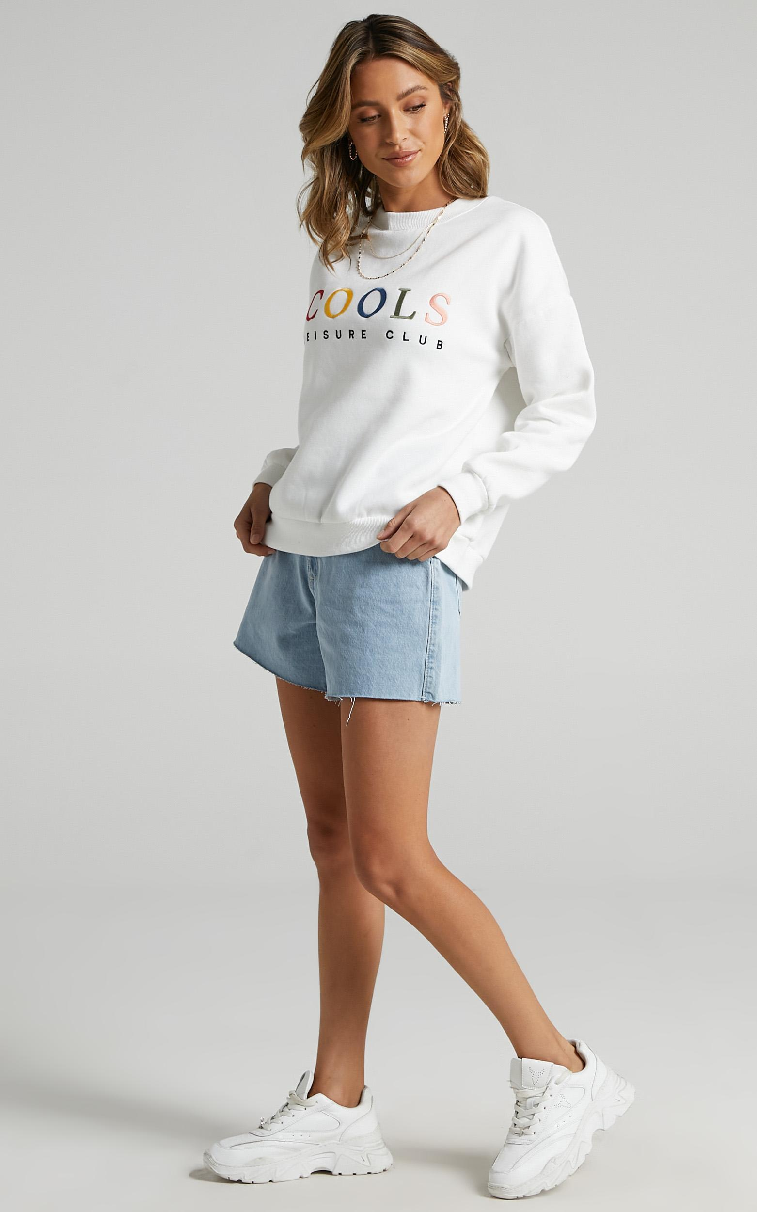 Cools Club - Leisure Club Sweat in White - 6 (XS), White, hi-res image number null
