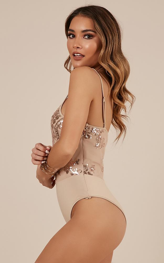 Look At Her Bodysuit in gold sequin - 20 (XXXXL), Gold, hi-res image number null