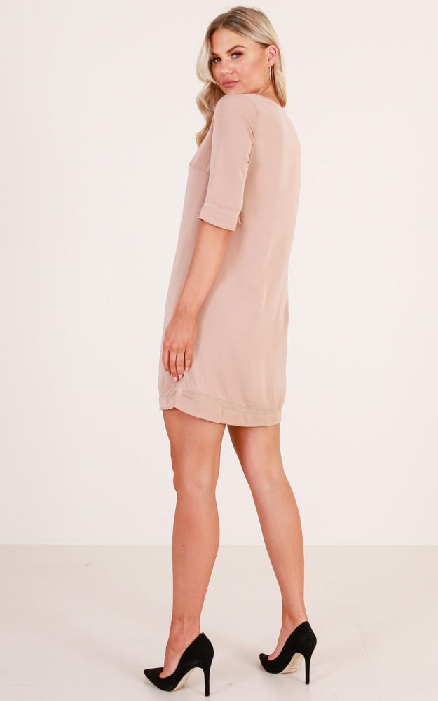 Miss Independent dress in mocha - 6 (XS), Mocha, hi-res image number null
