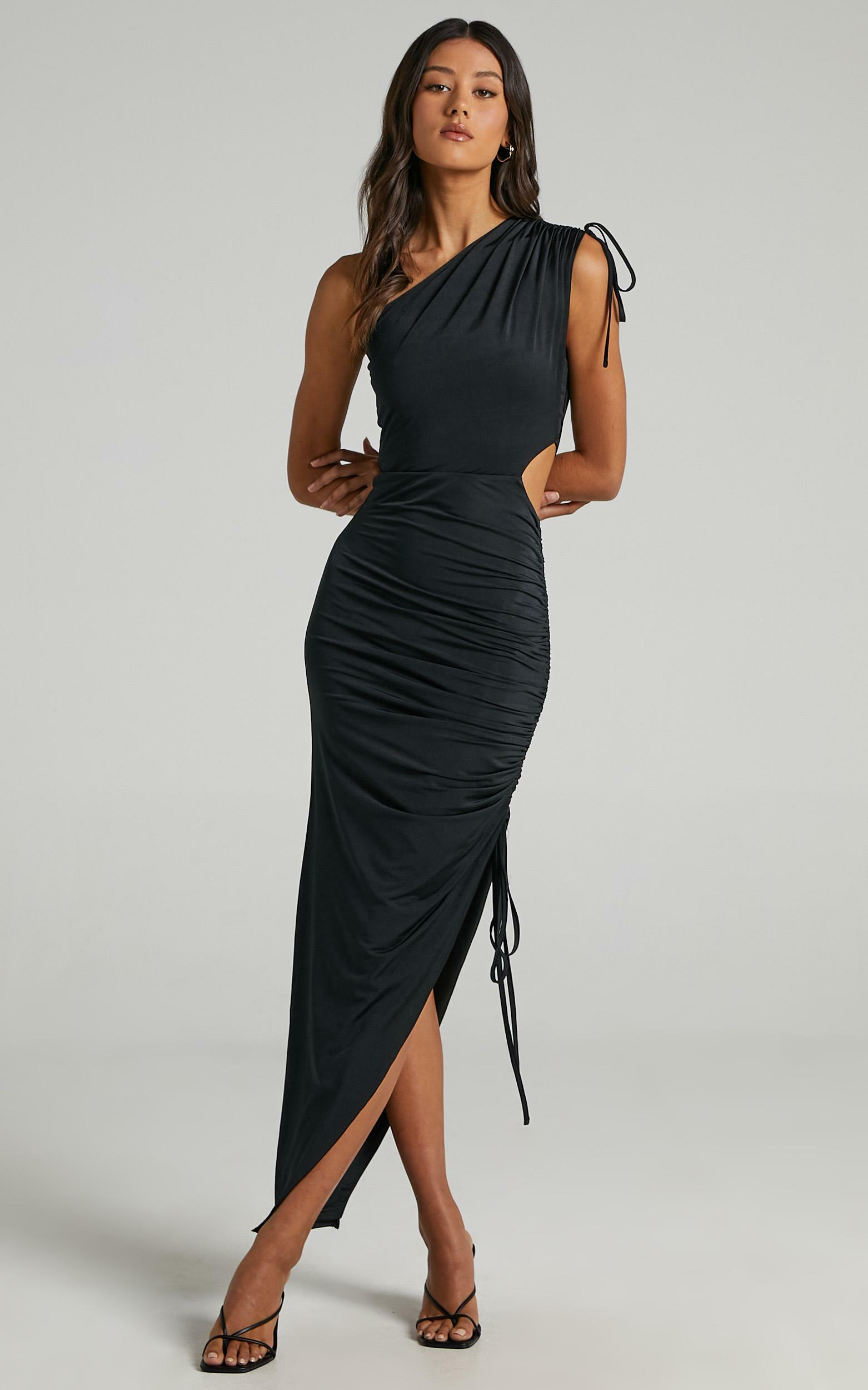 Dionyza Dress in Black - 6 (XS), Black, hi-res image number null
