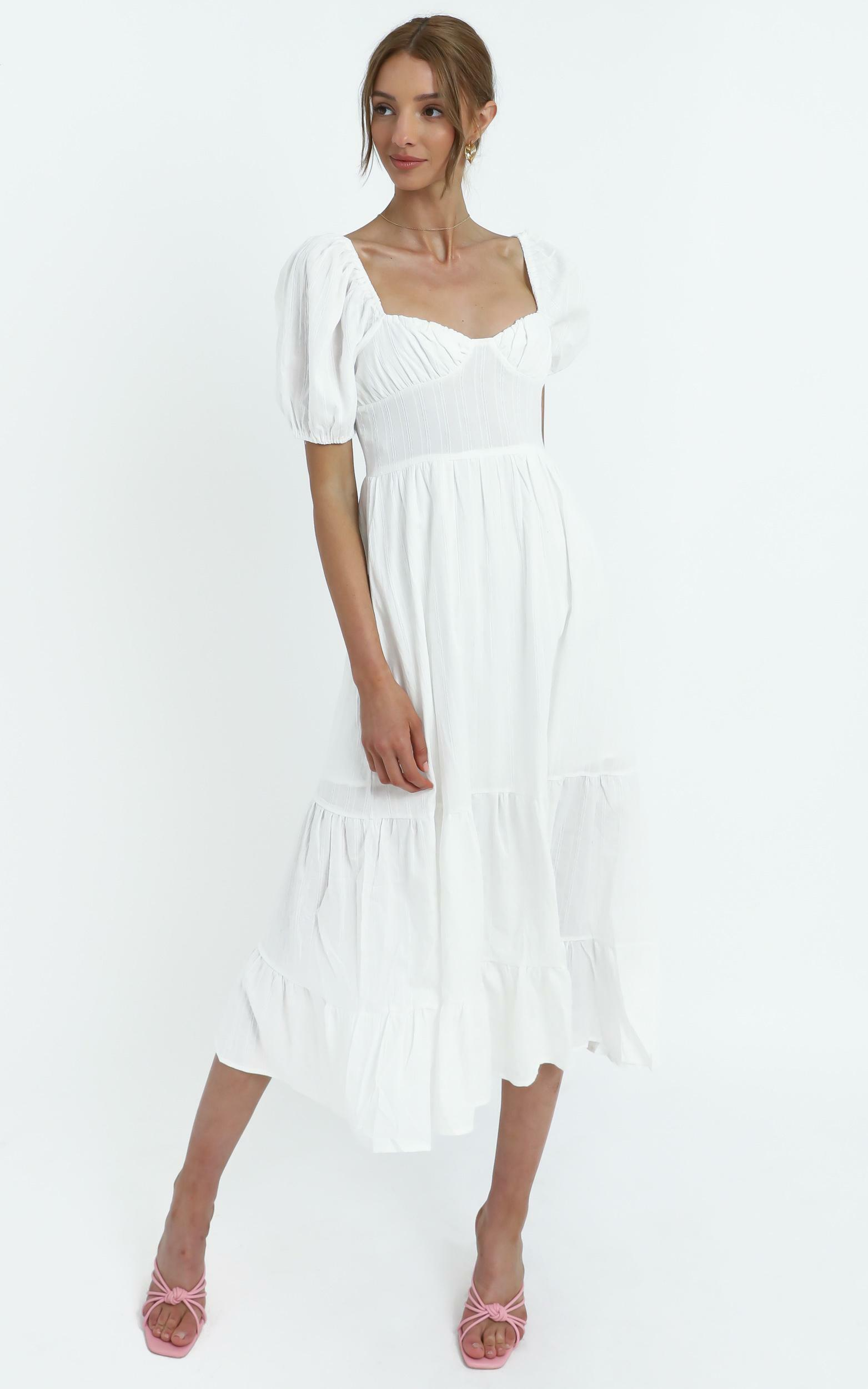 Preston Dress in White - 14 (XL), WHT1, hi-res image number null