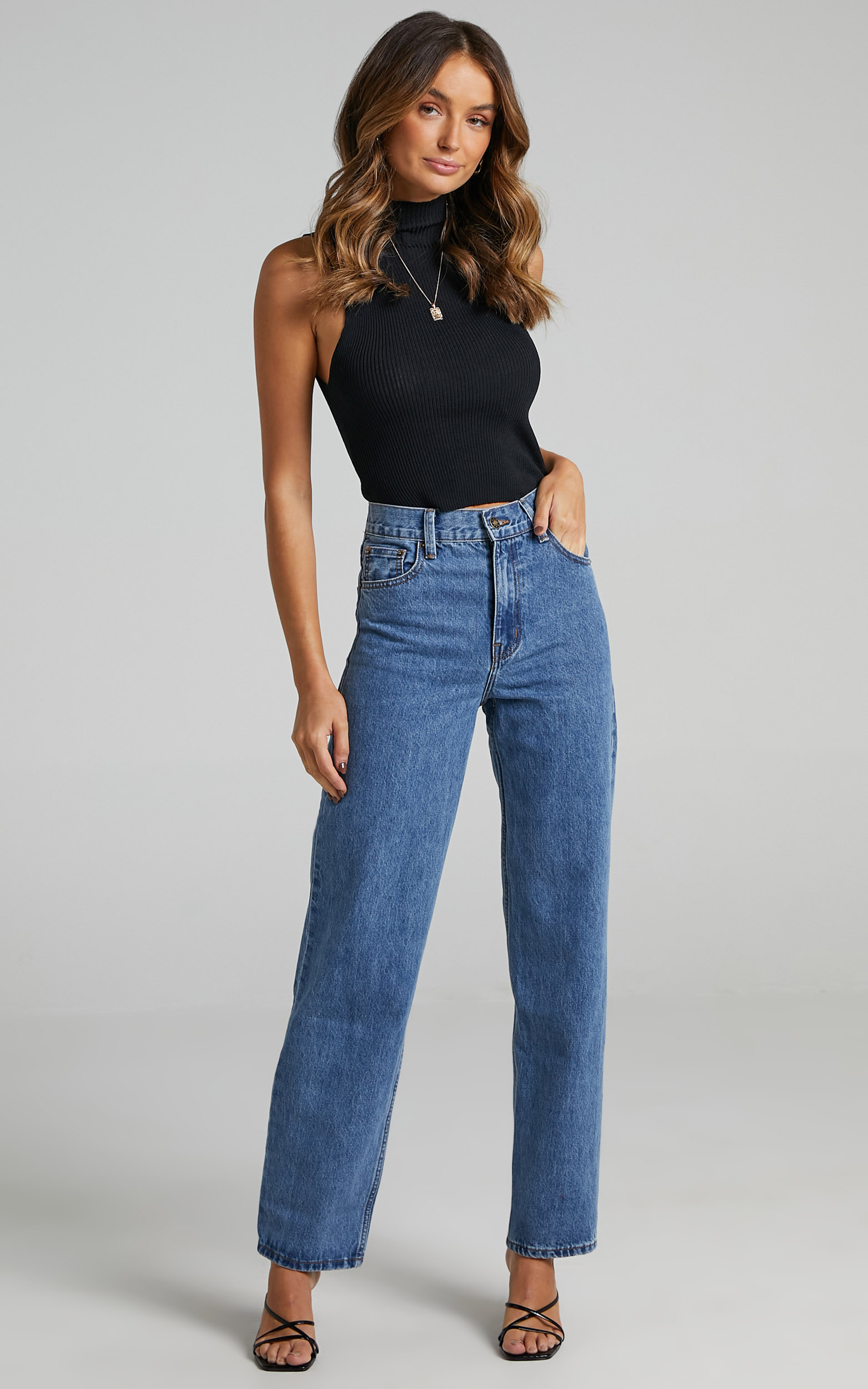 Lioness - Old Faithful Jean in Blue Denim - 4 (XXS), Blue, hi-res image number null