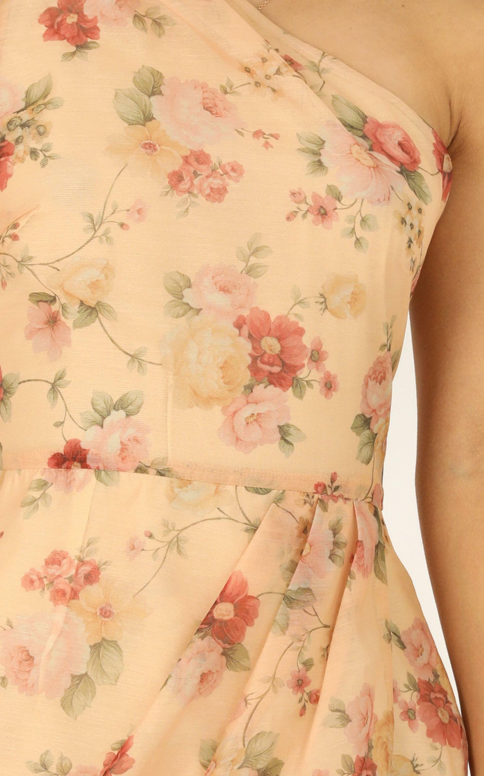 I Know I'm Gonna Miss You dress in peach floral - 14 (XL), Beige, hi-res image number null