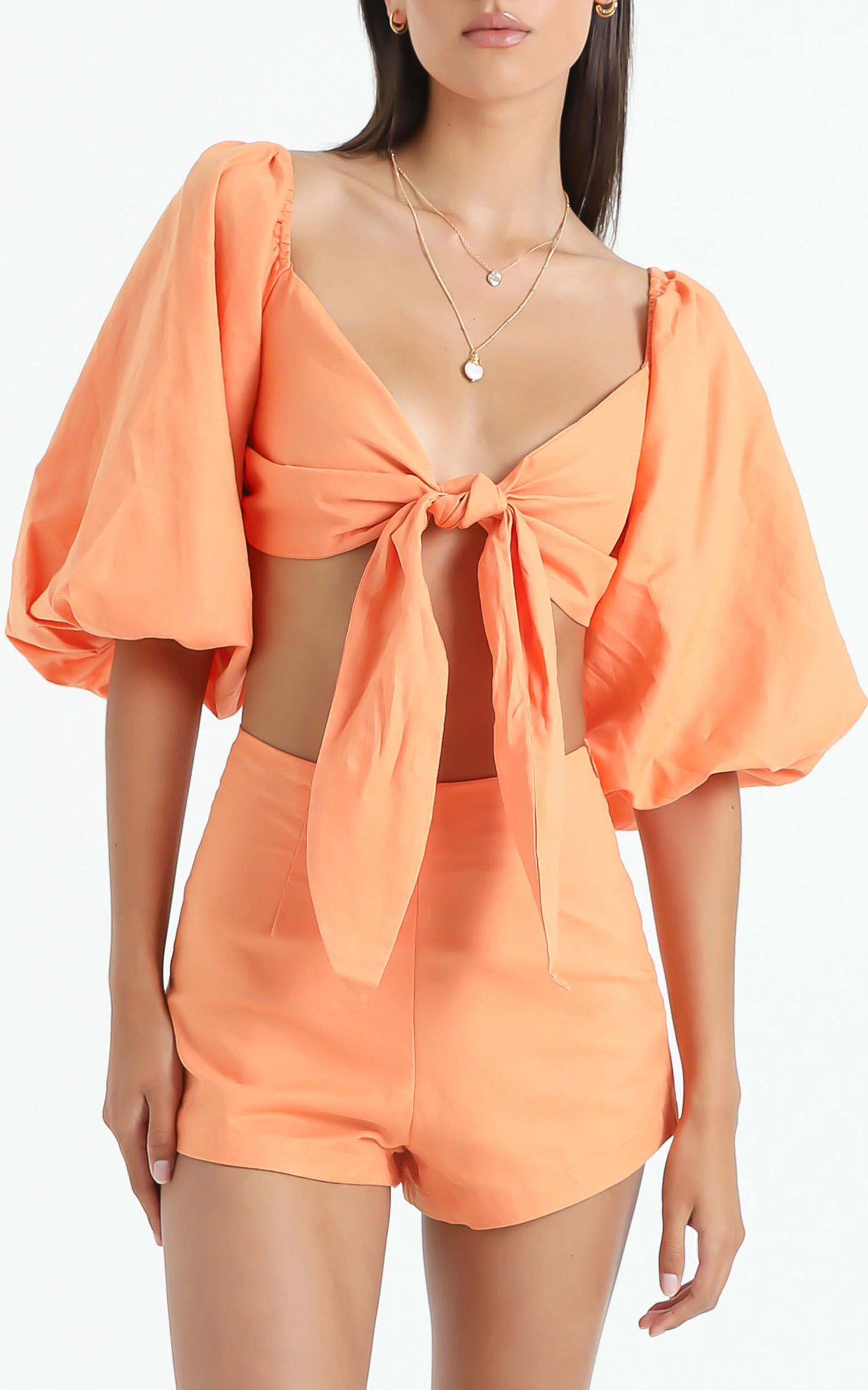 Charlie Holiday - Sonny Top in Papaya - XS, Orange, hi-res image number null