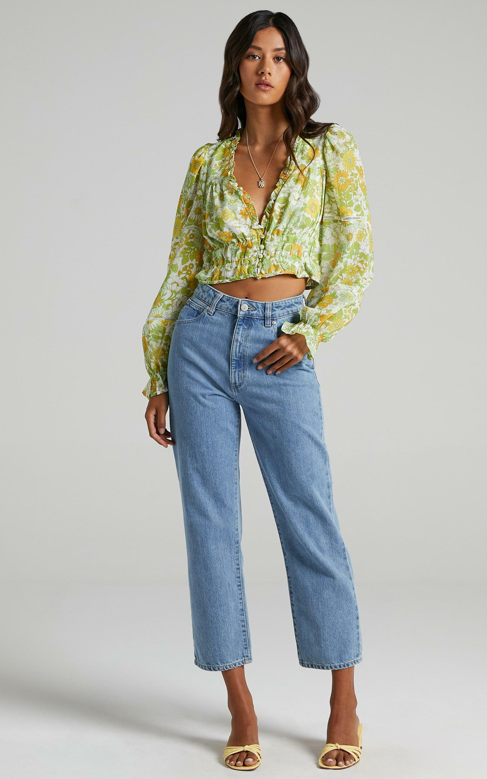 Eze Top in Harmony Floral Chiffon - 06, MLT1, hi-res image number null