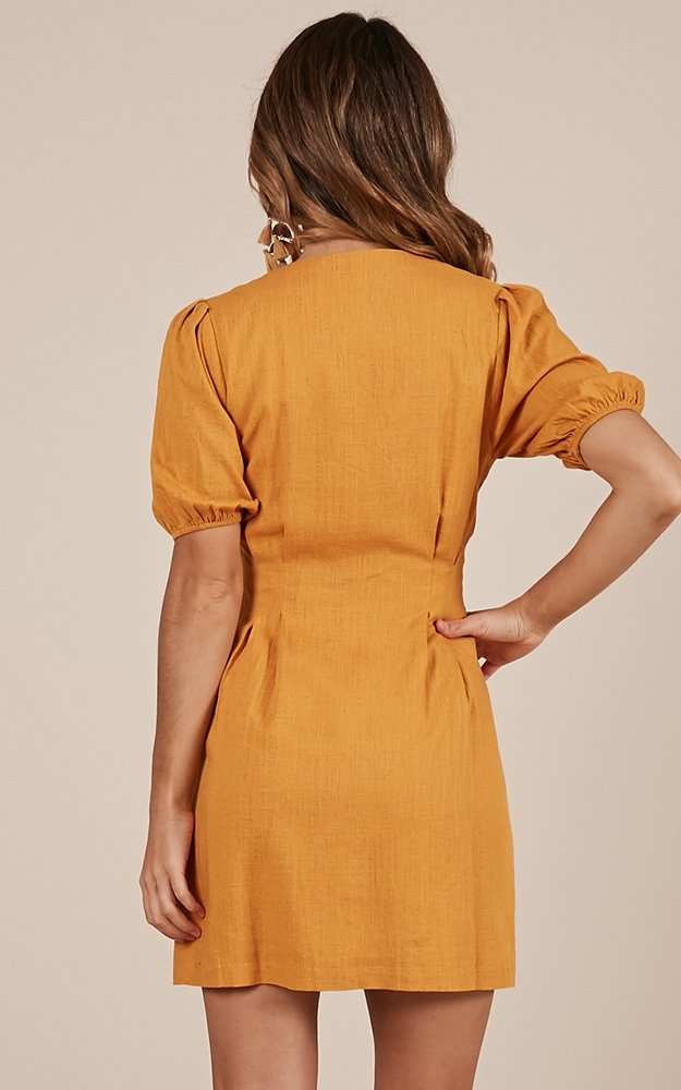 Changing Up dress in mustard - 12 (L), Mustard, hi-res image number null