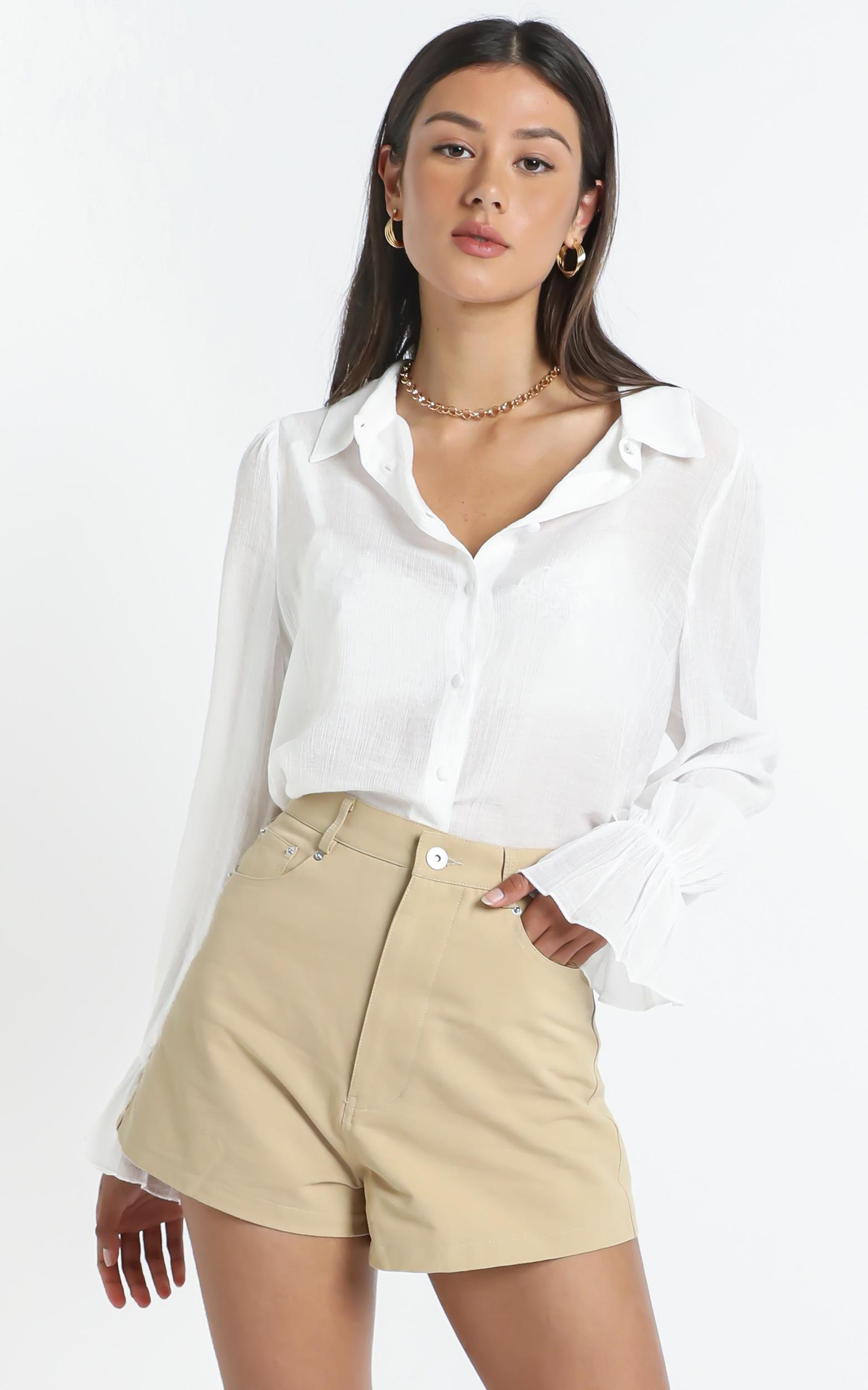 Londyn Shirt in White - 14 (XL), White, hi-res image number null