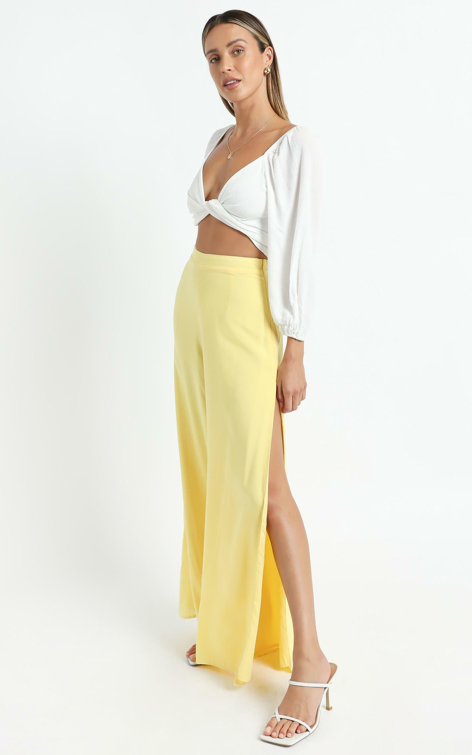 Narissa Pants in Lemon - 6 (XS), Yellow, hi-res image number null