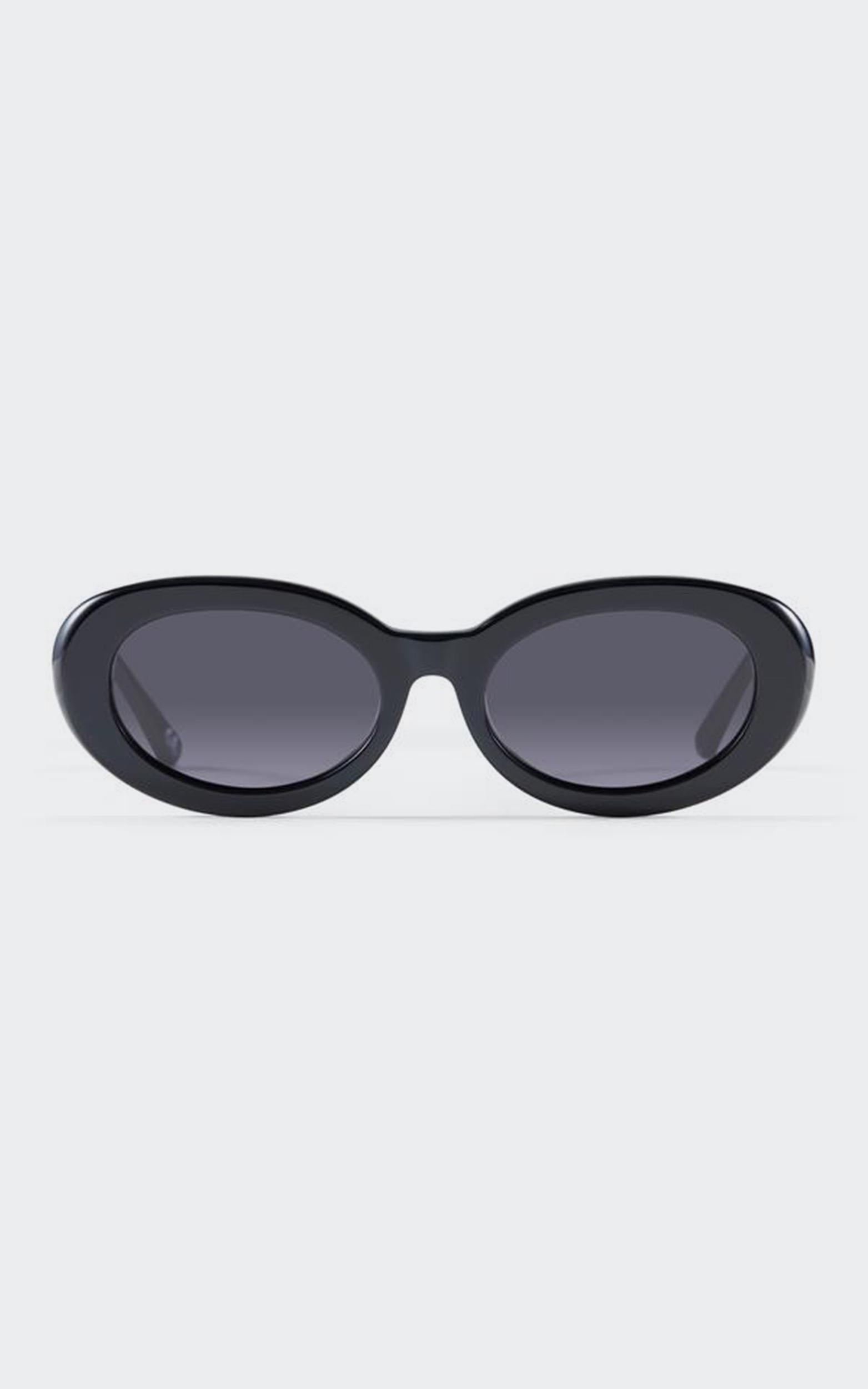 Luv Lou - The Estelle Sunglasses in Jet Black, Black, hi-res image number null