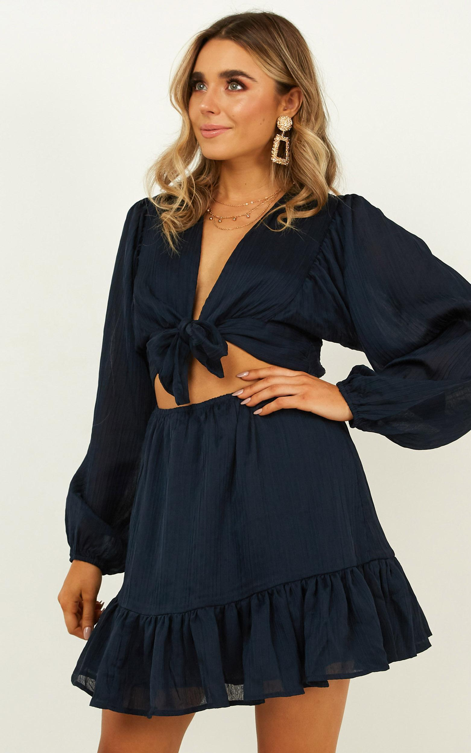 Consideration Dress in navy - 18 (XXXL), Navy, hi-res image number null