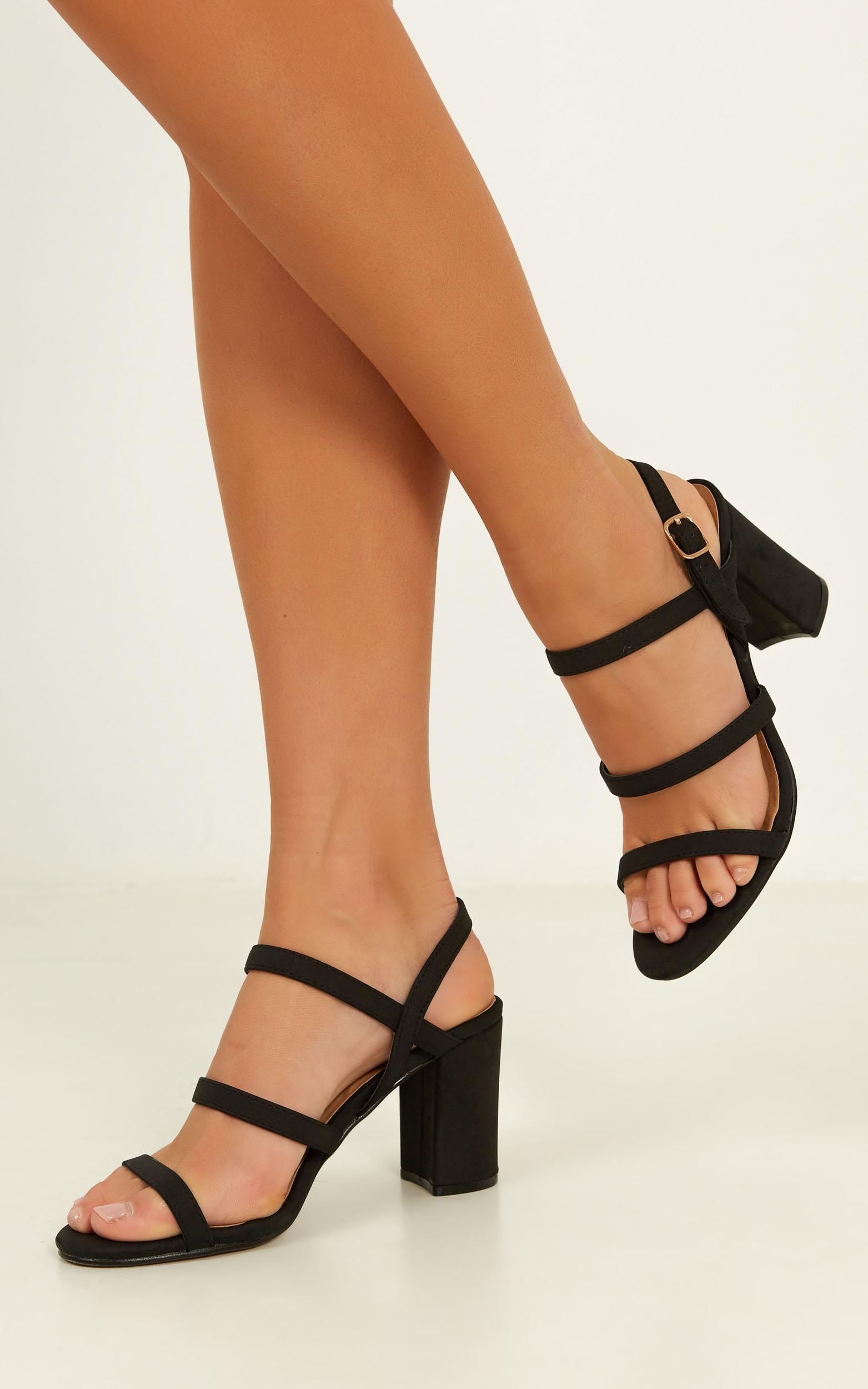 Billini - Raiya heels in black nubuck - 10, Black, hi-res image number null