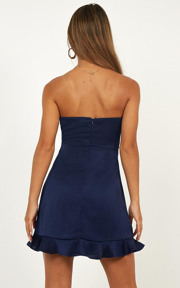 Making A Move dress in navy satin - 12 (L), Navy, hi-res image number null