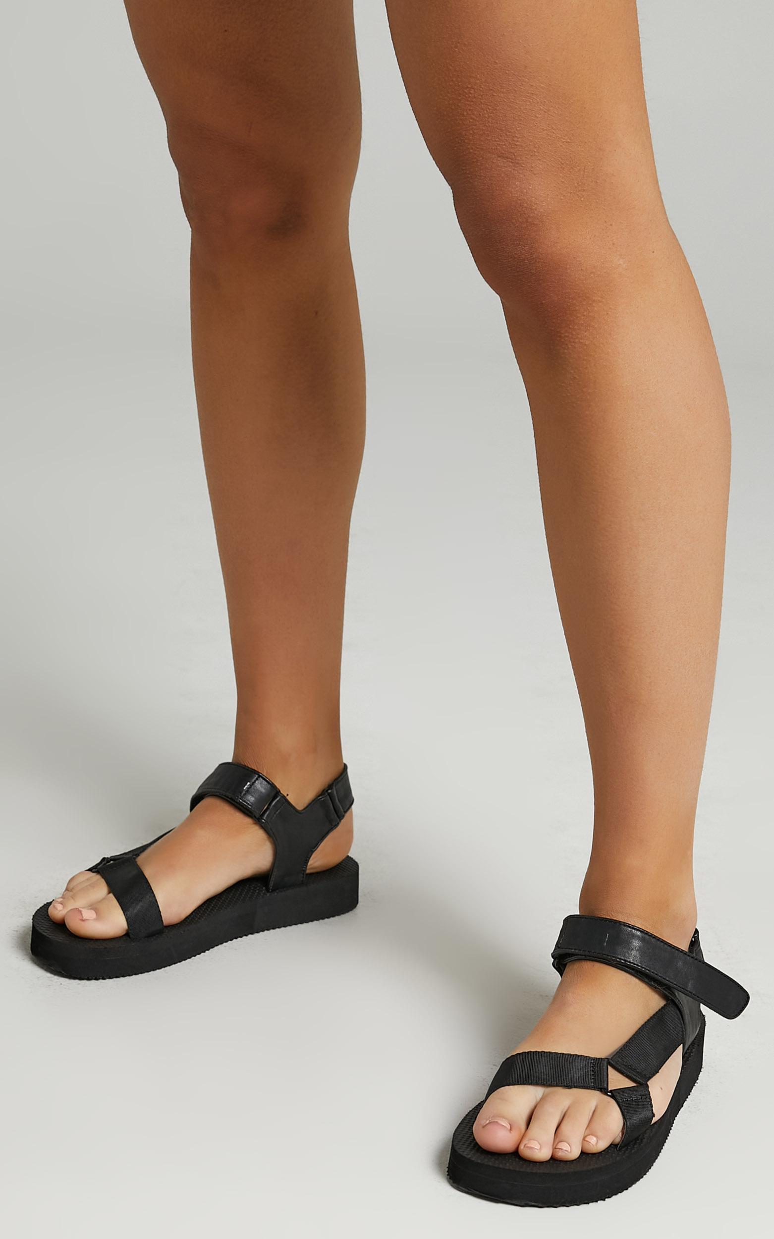 Public Desire - Threat Sandals in Black - 05, BLK1, hi-res image number null