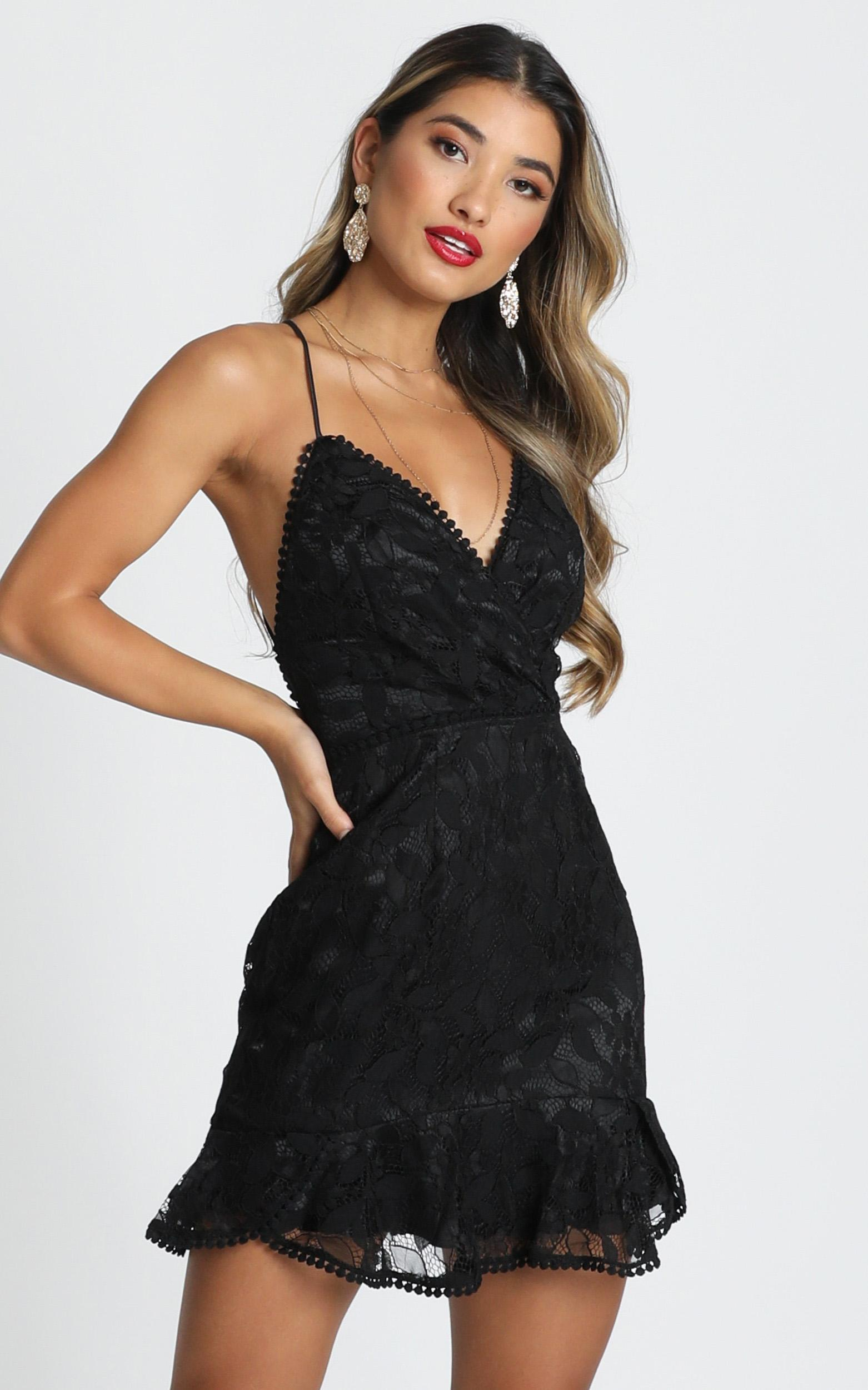 Find My Feet Dress in black lace - 14 (XL), Black, hi-res image number null