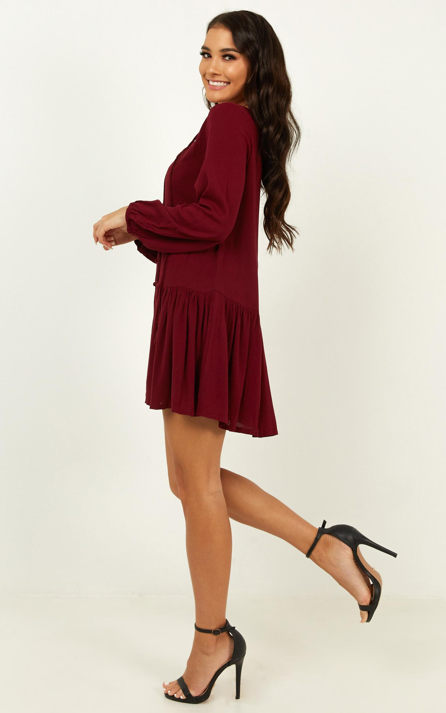 Unlike Anything Dress in wine - 18 (XXXL), Wine, hi-res image number null