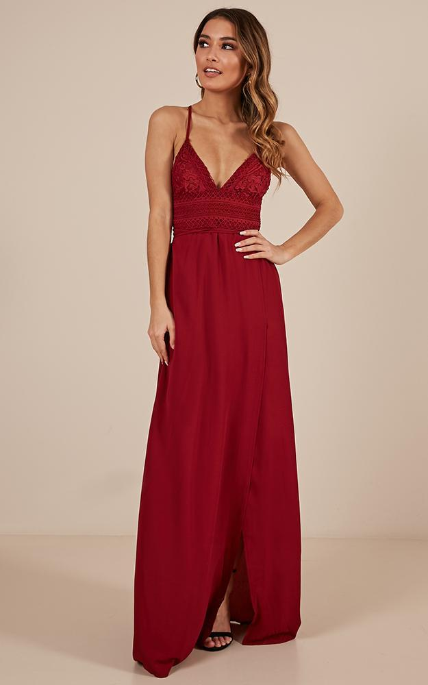 Running free maxi dress in wine - 6 (XS), Wine, hi-res image number null