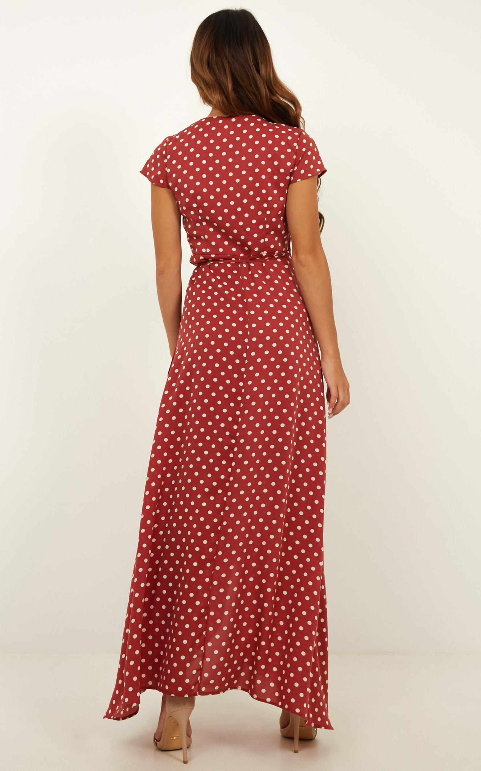 Imaginative Girl Maxi Dress in rose spot - 20 (XXXXL), Pink, hi-res image number null