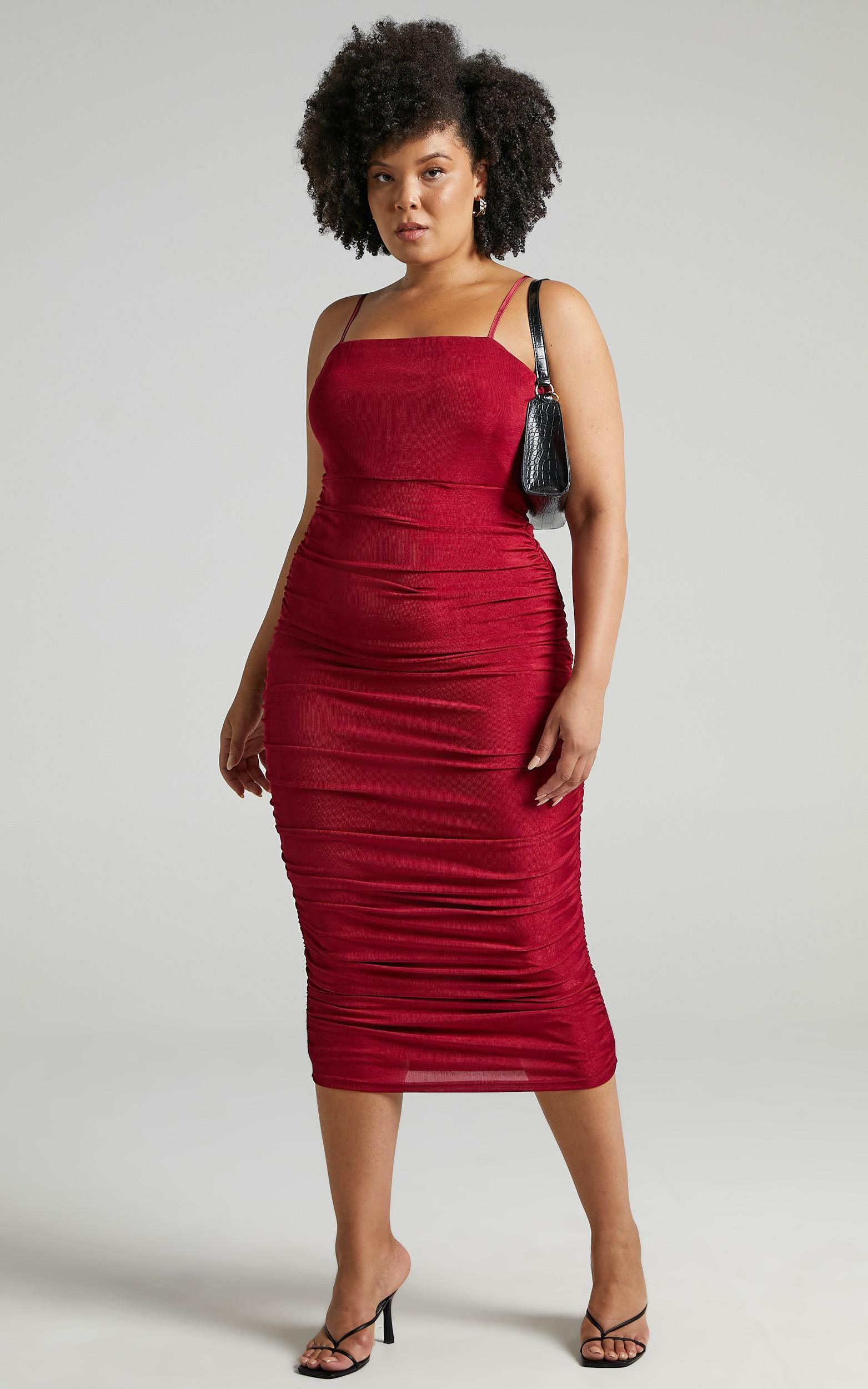 Commit To Me Bodycon Midi Dress in Wine - 04, WNE5, hi-res image number null