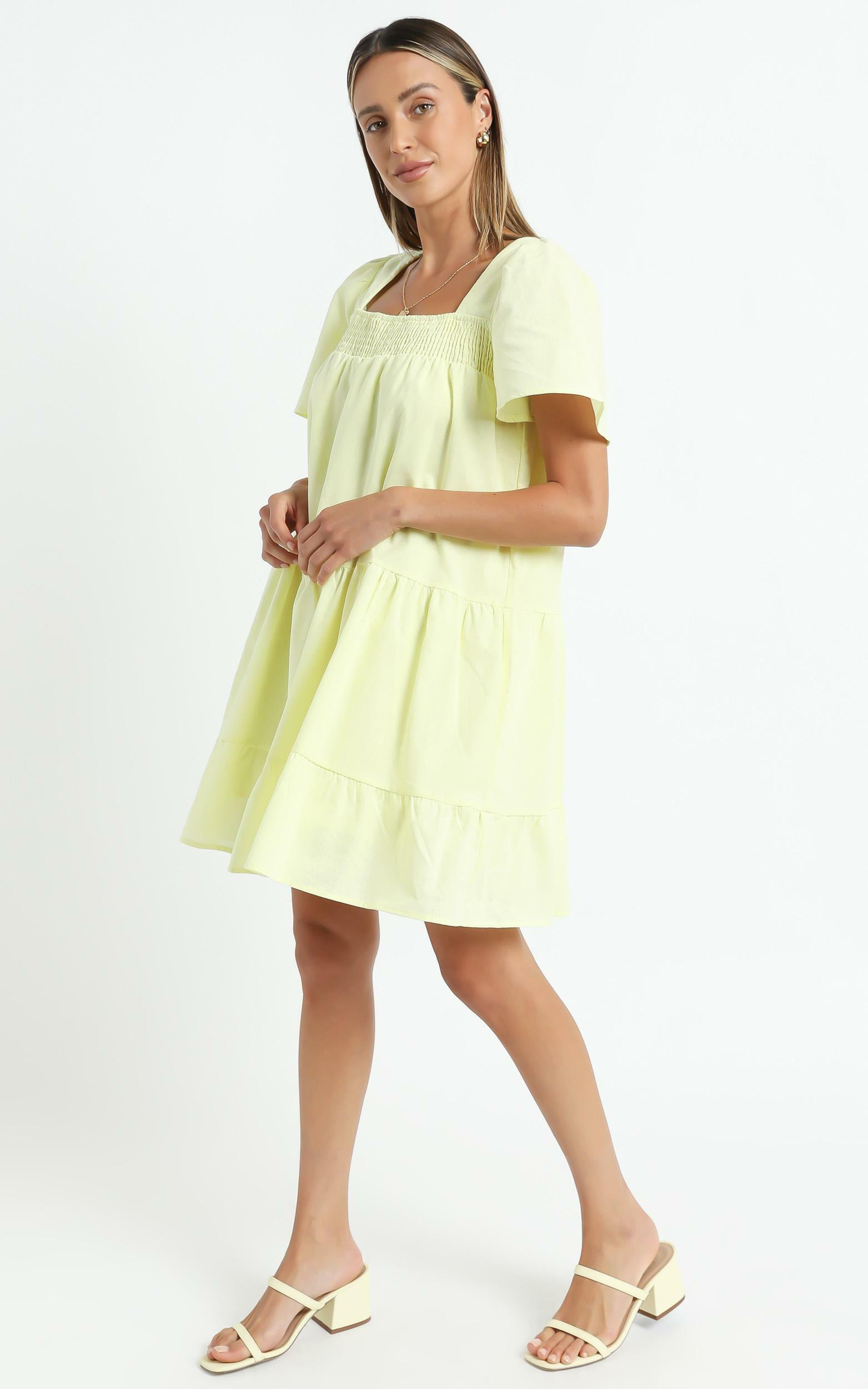 Donya Dress in Lemon - 6 (XS), Yellow, hi-res image number null